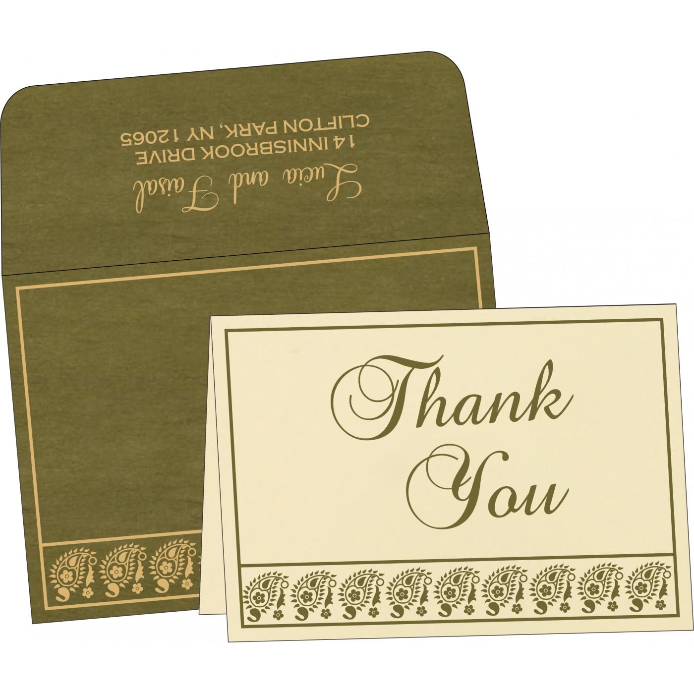 Thank You Cards : TYC-8218A - 123WeddingCards