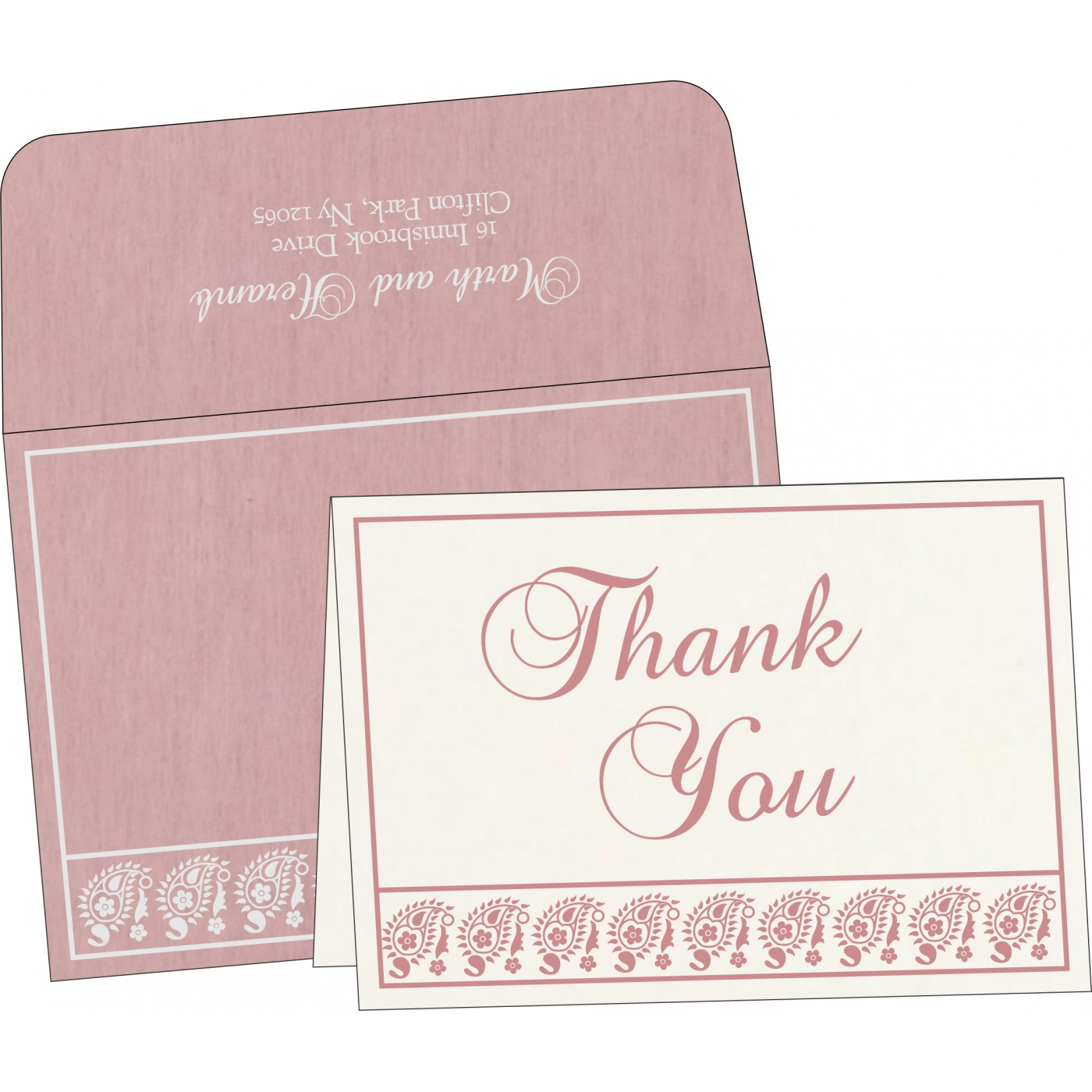 Thank You Cards : TYC-8218J - 123WeddingCards