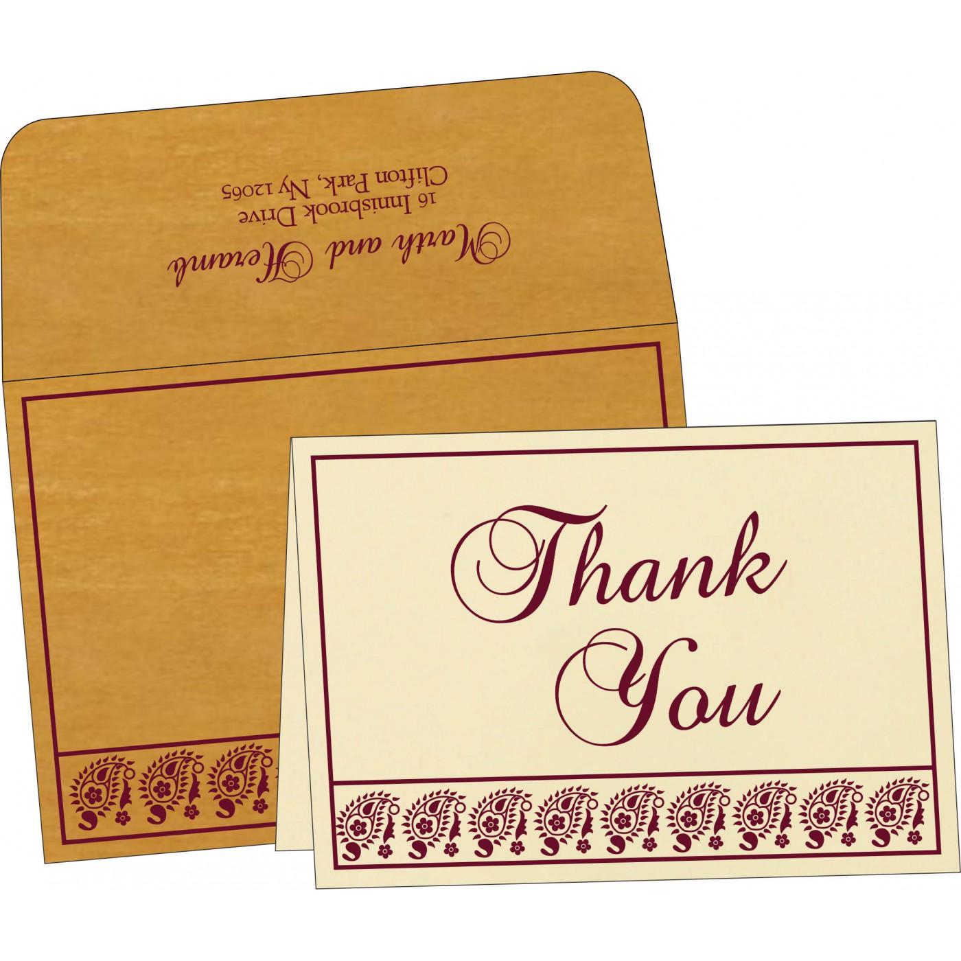 Thank You Cards : TYC-8218N - 123WeddingCards