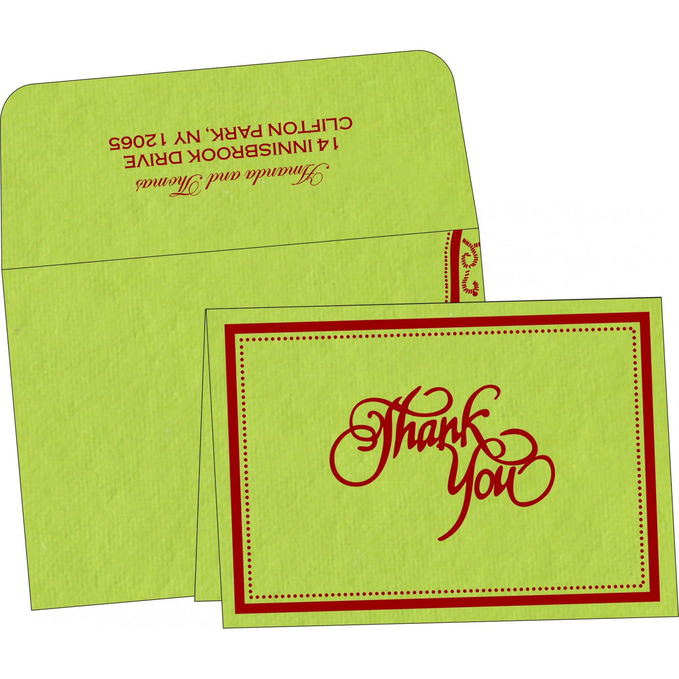 Thank You Cards : TYC-8219A - 123WeddingCards