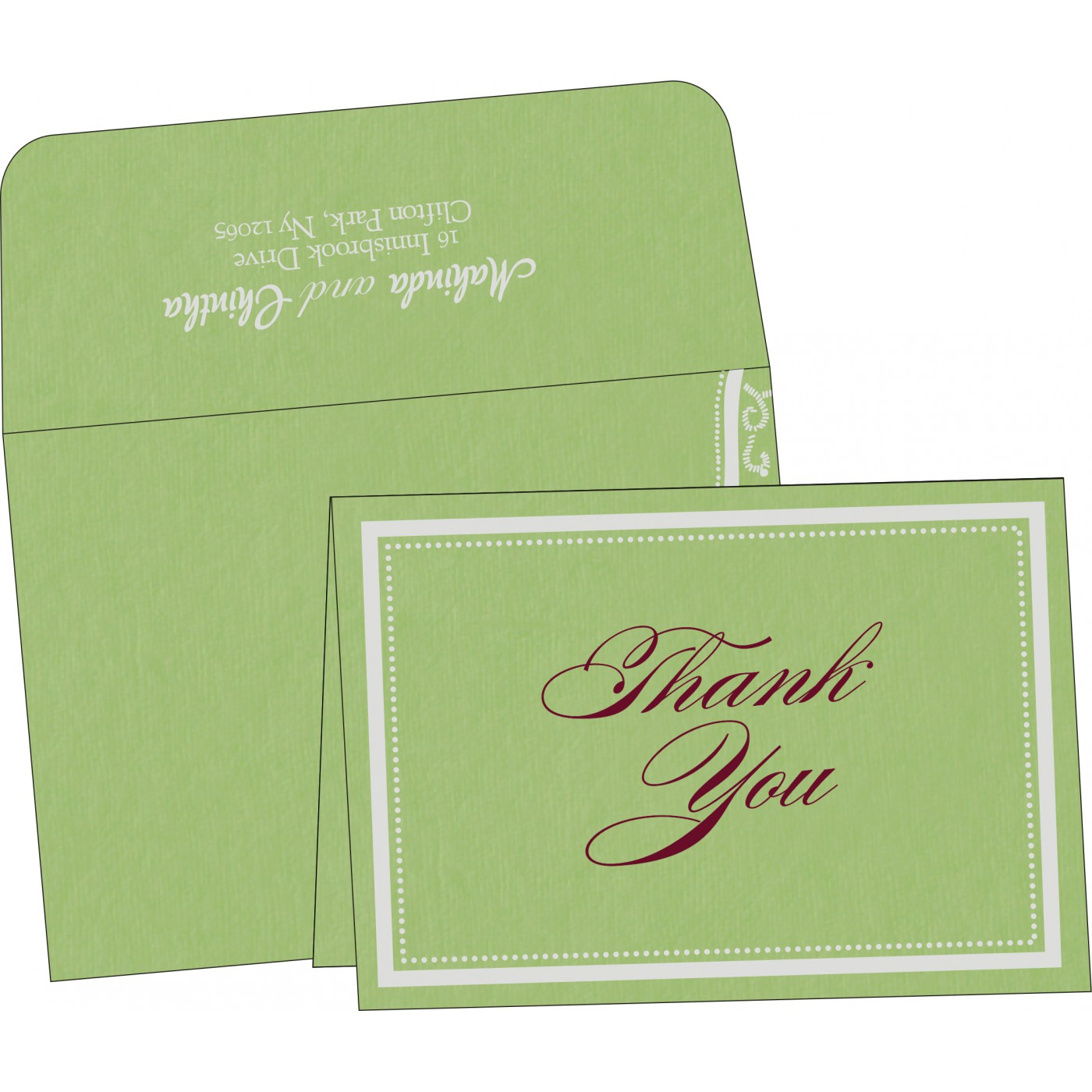 Thank You Cards : TYC-8219J - 123WeddingCards
