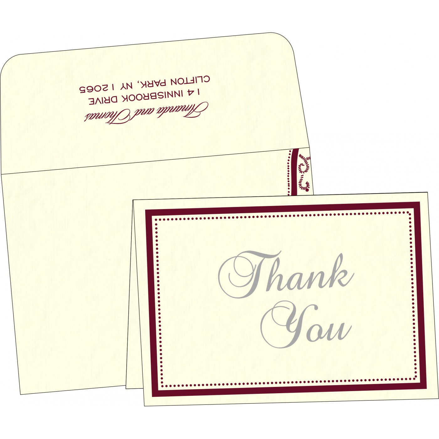 Thank You Cards : TYC-8219L - 123WeddingCards