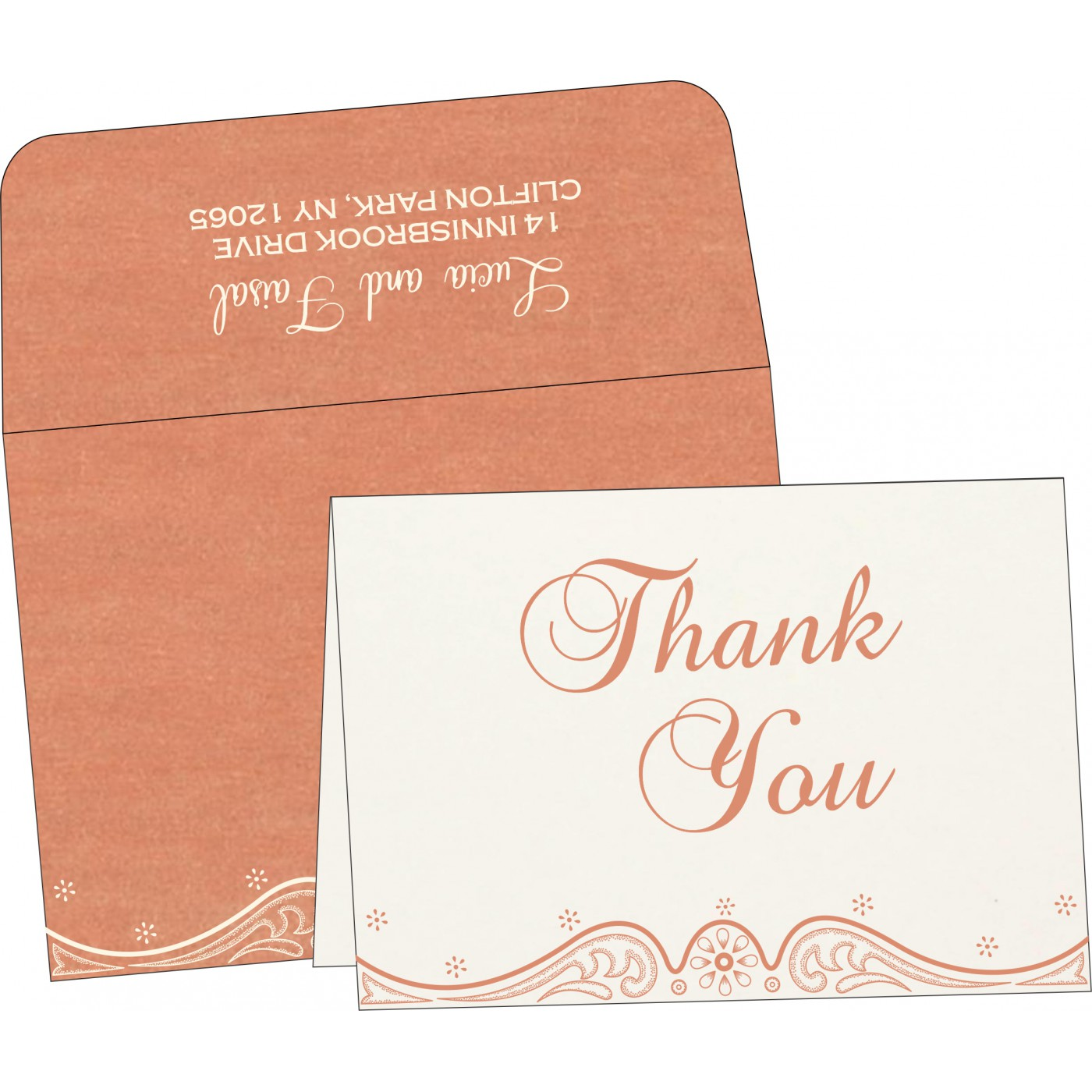 Thank You Cards : TYC-8221B - 123WeddingCards