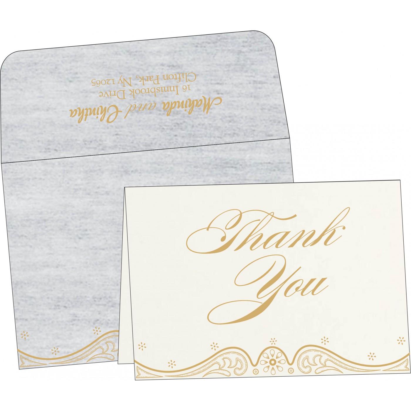 Thank You Cards : TYC-8221G - 123WeddingCards