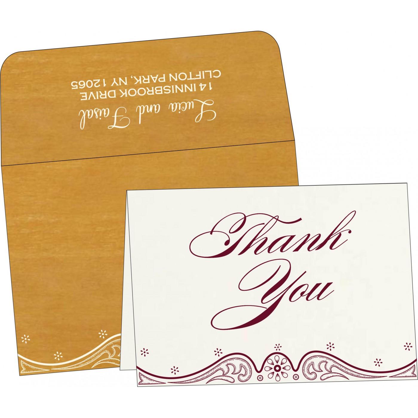 Thank You Cards : TYC-8221H - 123WeddingCards