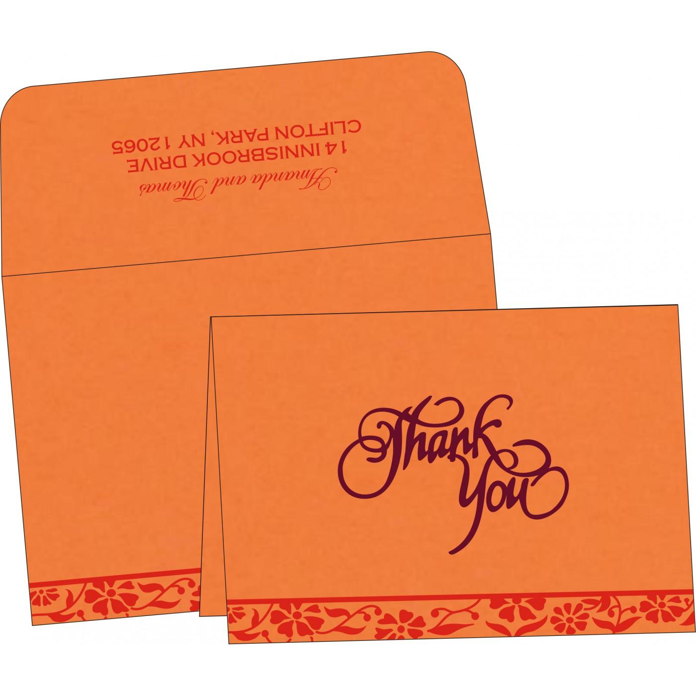 Thank You Cards : TYC-8222C - 123WeddingCards