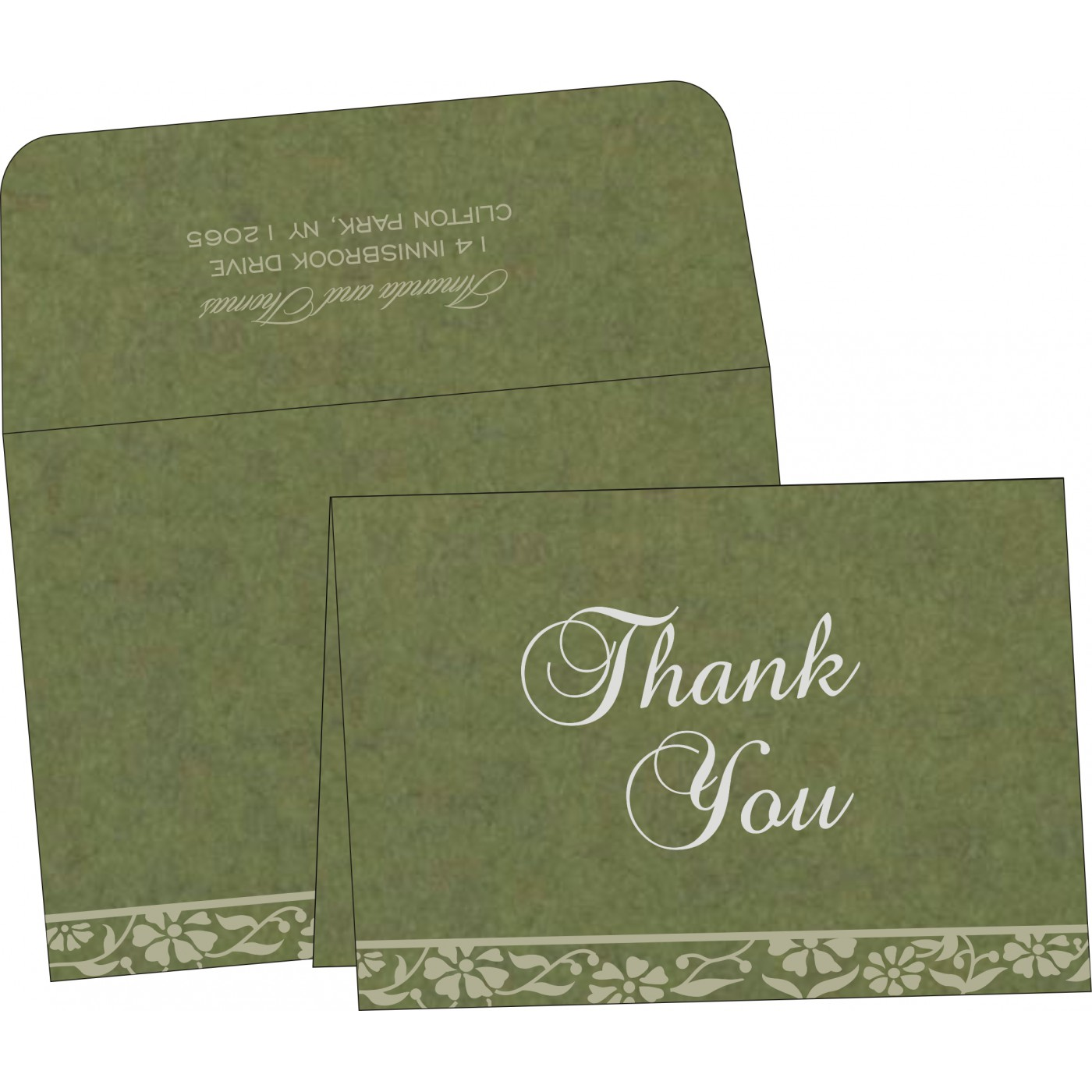 Thank You Cards : TYC-8222D - 123WeddingCards