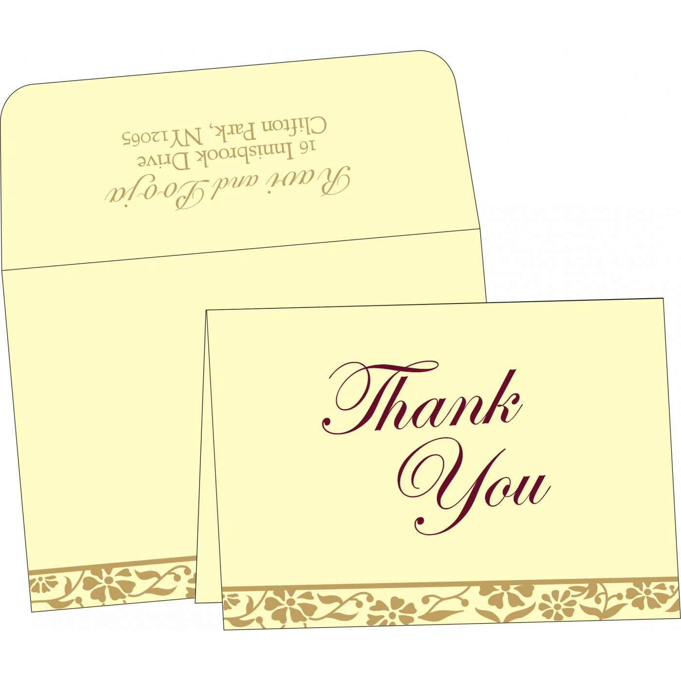 Thank You Cards : TYC-8222F - 123WeddingCards
