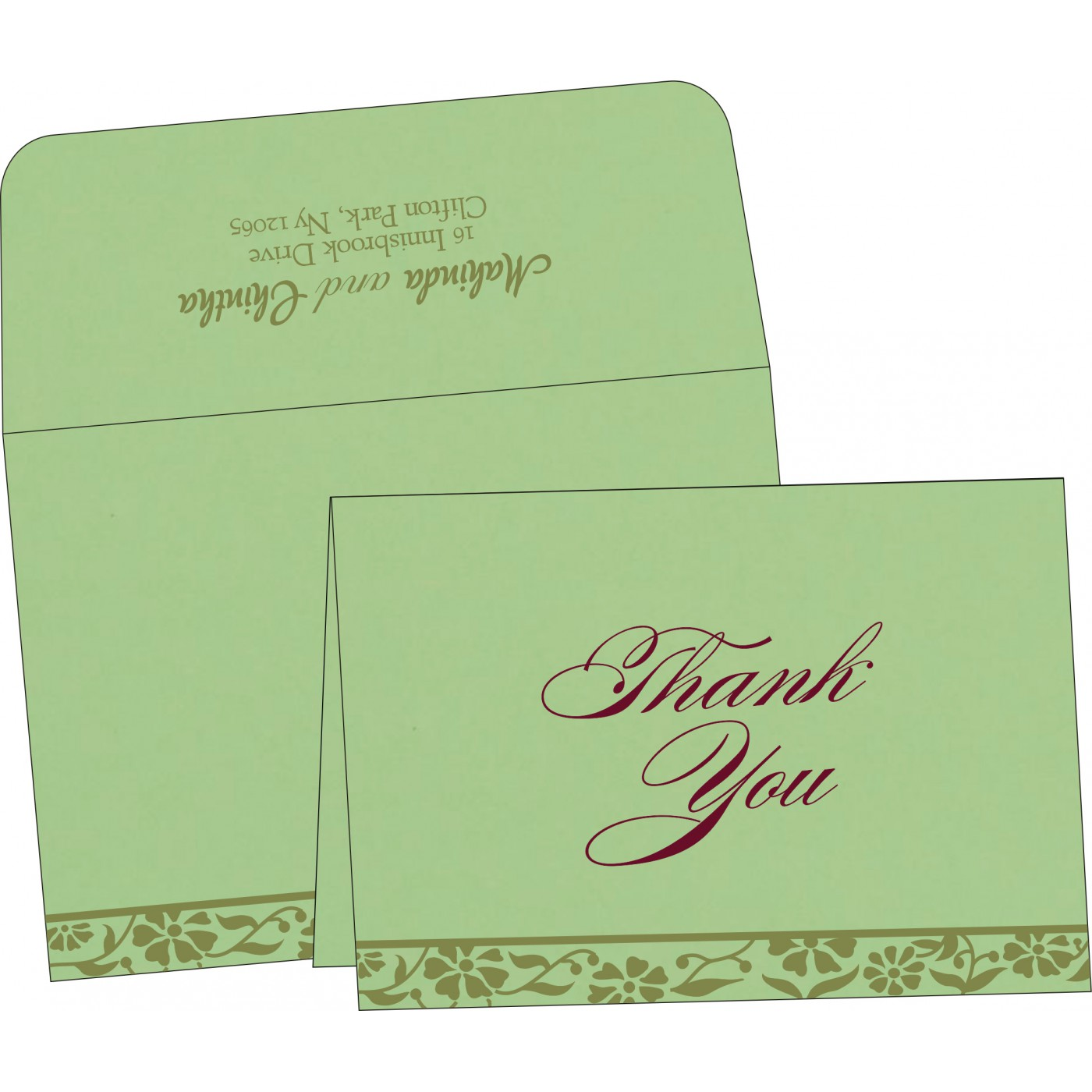 Thank You Cards : TYC-8222G - 123WeddingCards