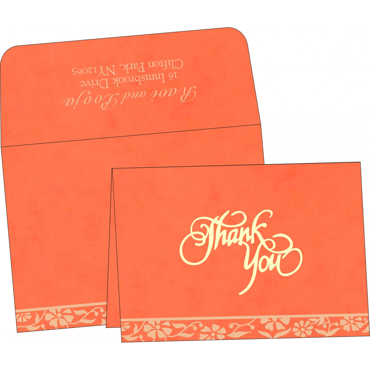 Thank You Cards : TYC-8222L - 123WeddingCards