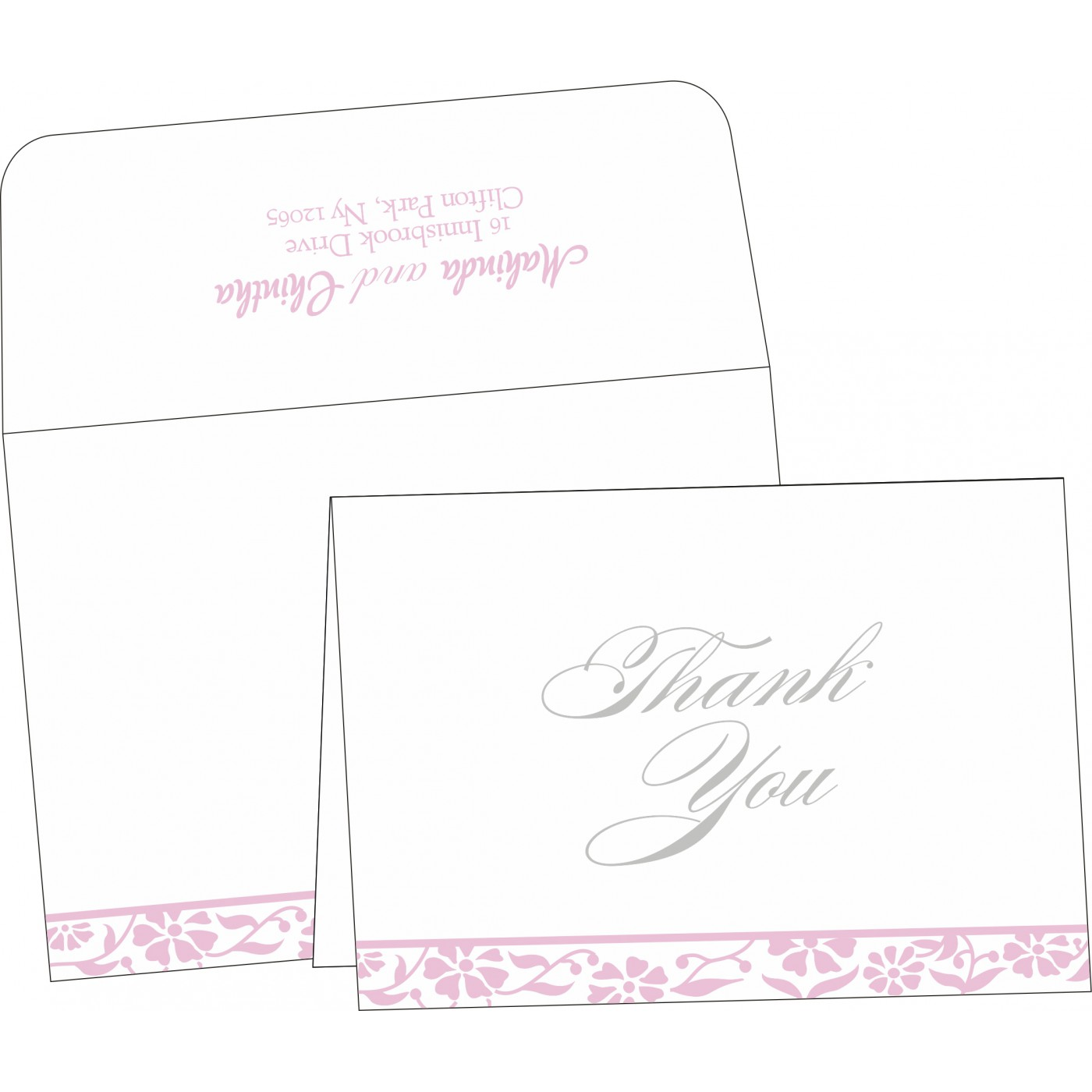 Thank You Cards : TYC-8222N - 123WeddingCards
