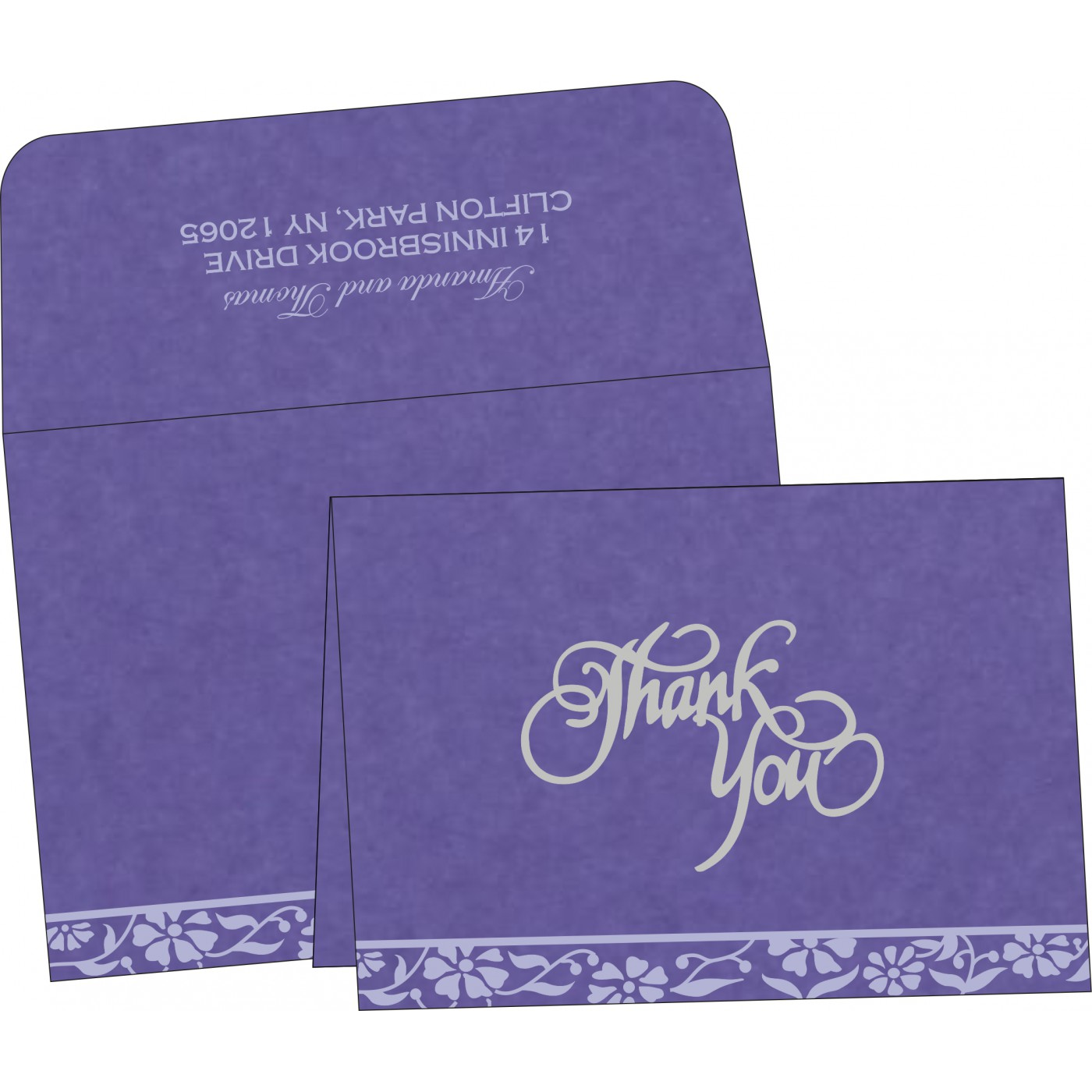 Thank You Cards : TYC-8222O - 123WeddingCards