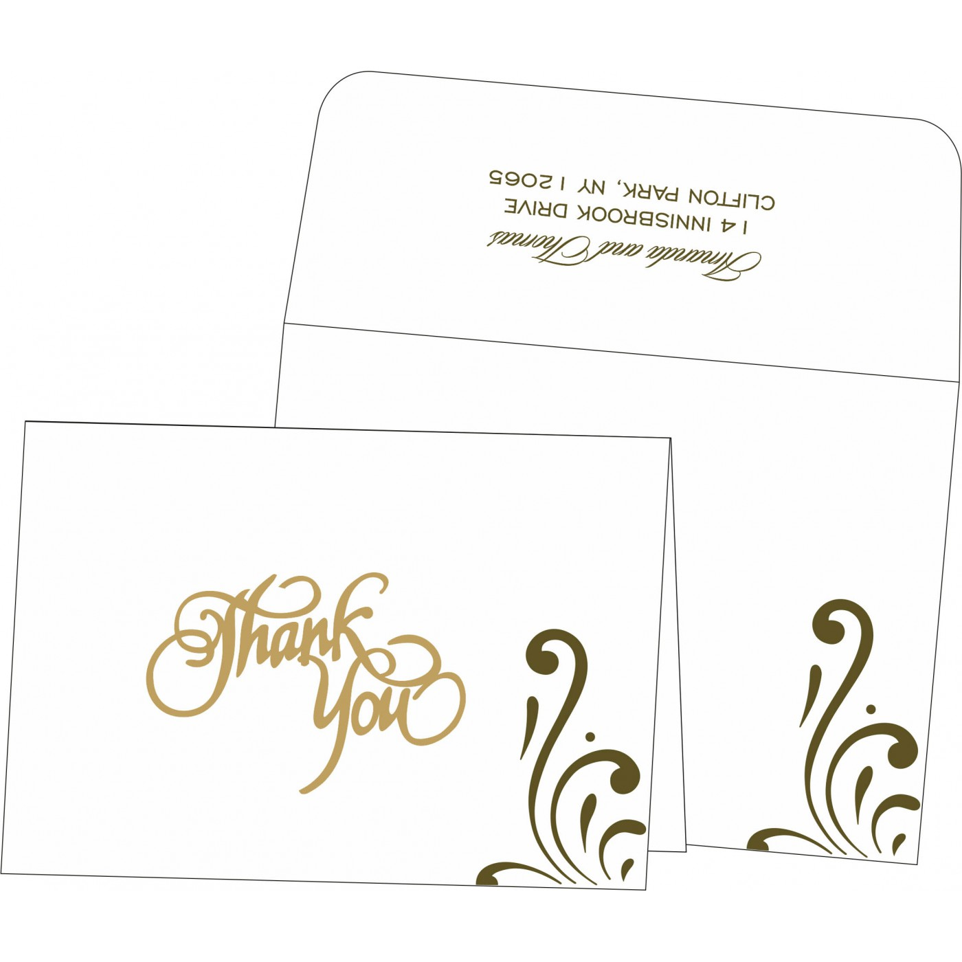 Thank You Cards : TYC-8223I - 123WeddingCards