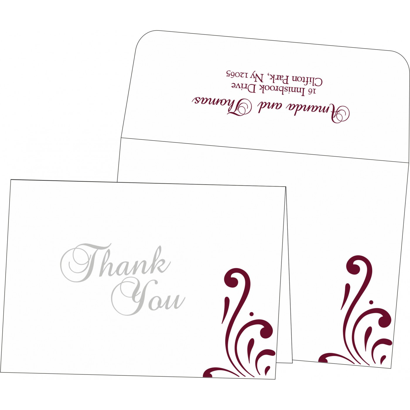 Thank You Cards : TYC-8223J - 123WeddingCards