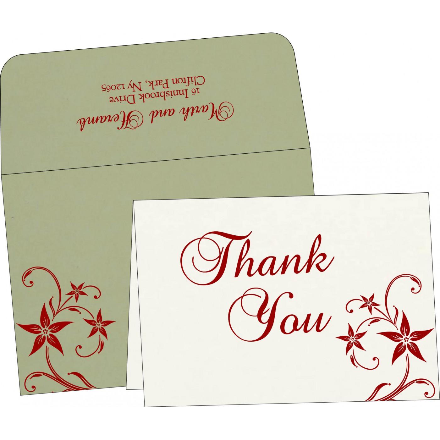 Thank You Cards : TYC-8225E - 123WeddingCards