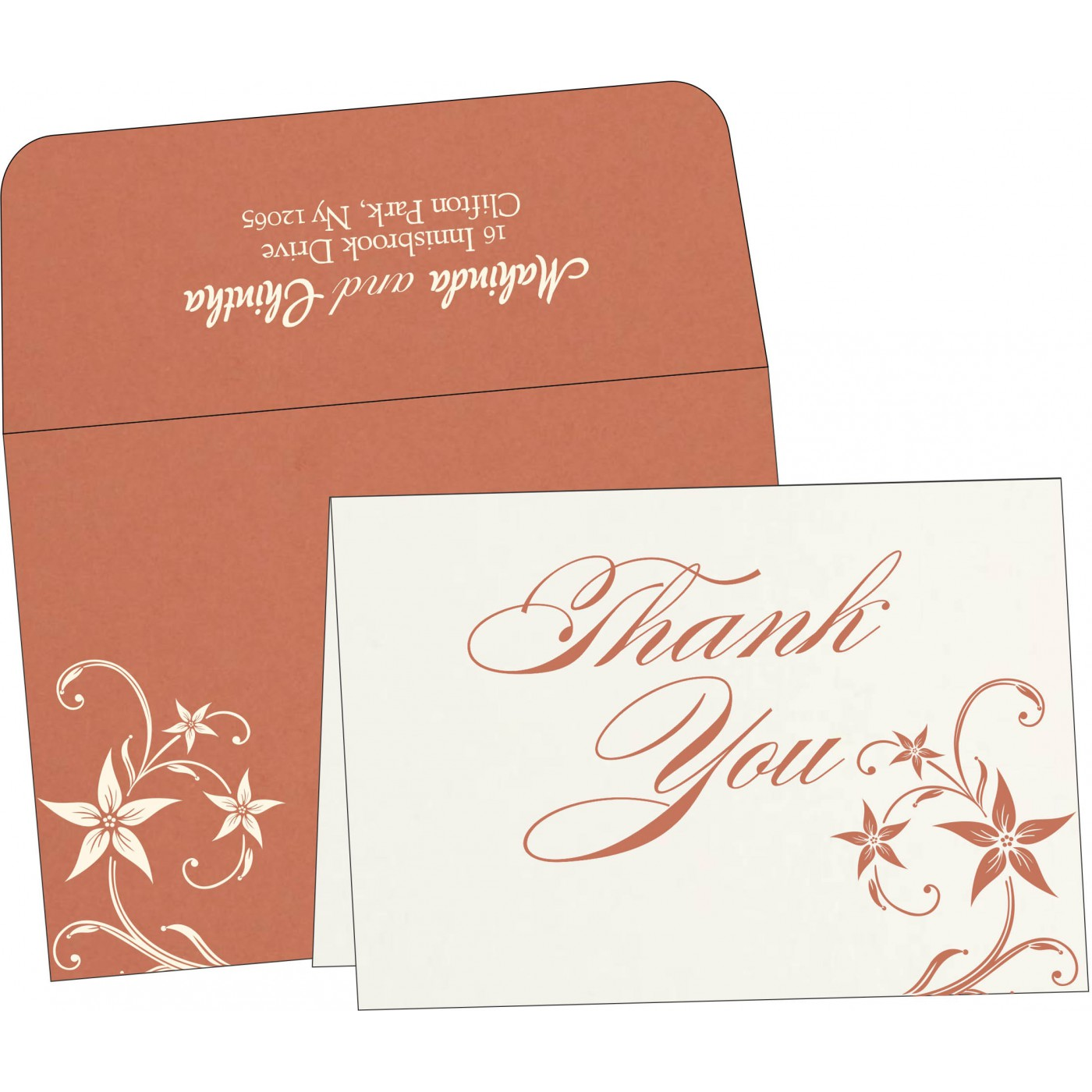 Thank You Cards : TYC-8225G - 123WeddingCards