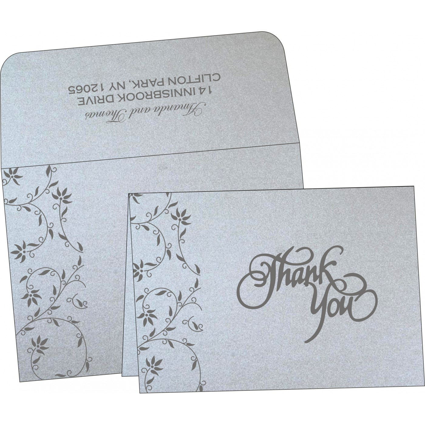 Thank You Cards : TYC-8226A - 123WeddingCards