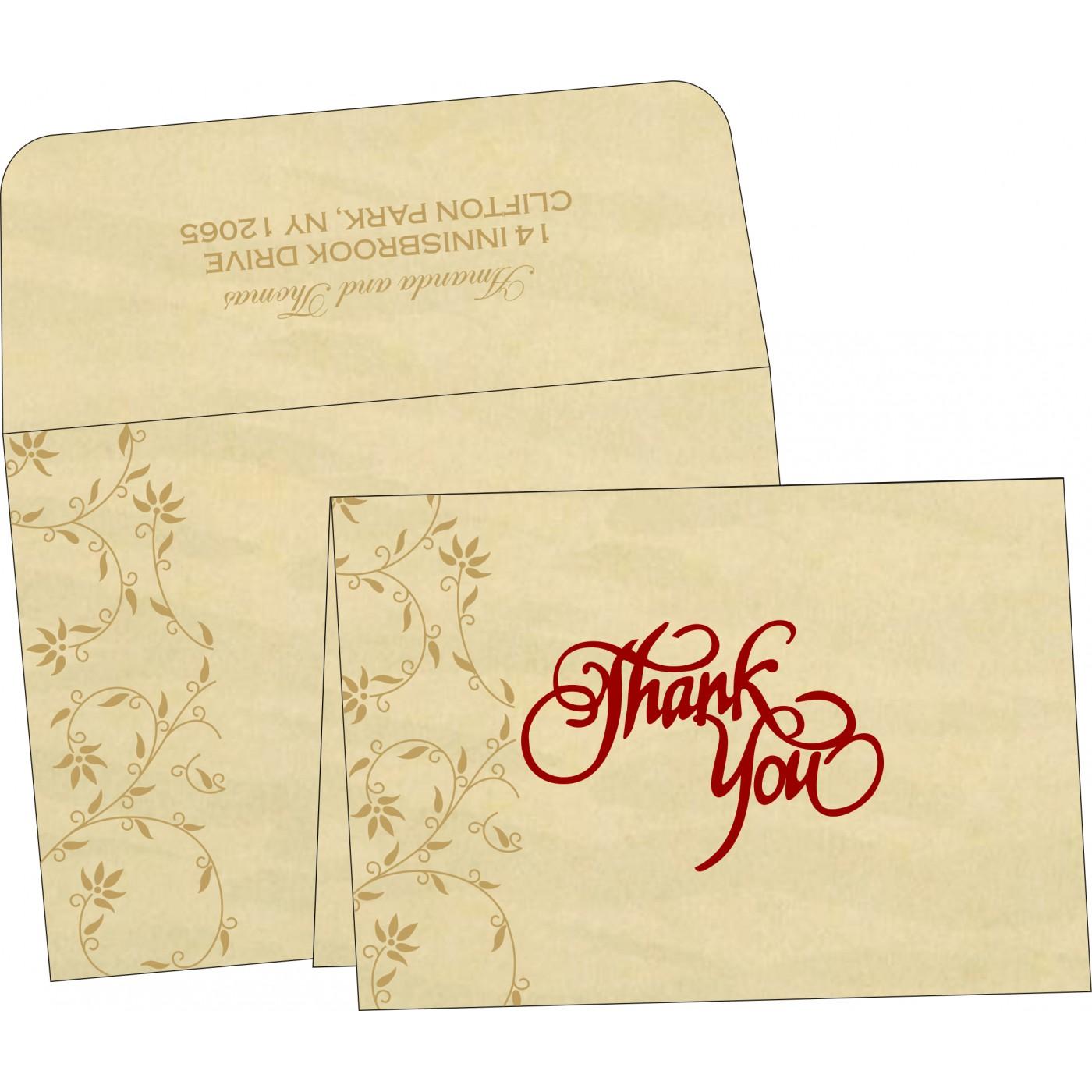 Thank You Cards : TYC-8226S - 123WeddingCards
