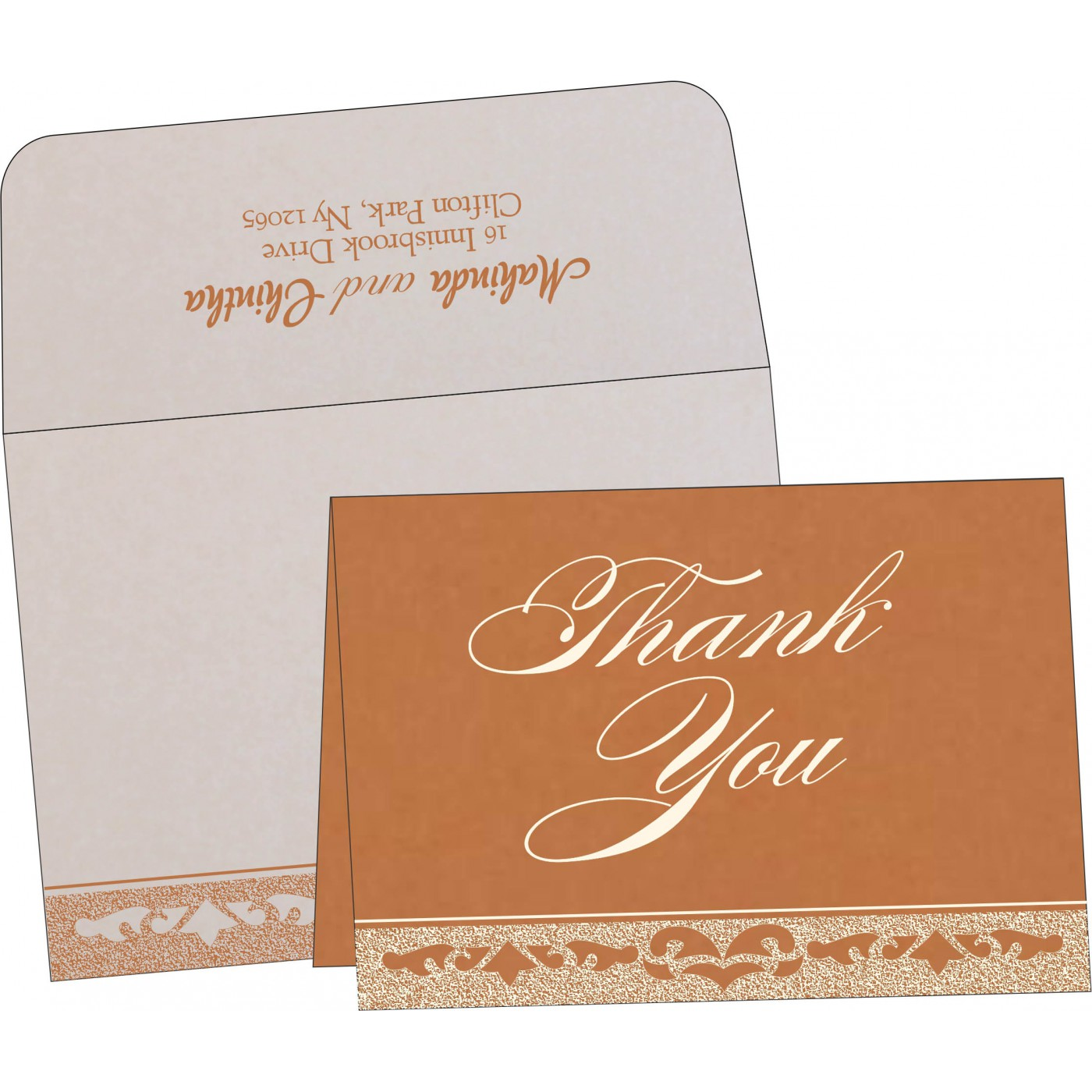 Thank You Cards : TYC-8227H - 123WeddingCards