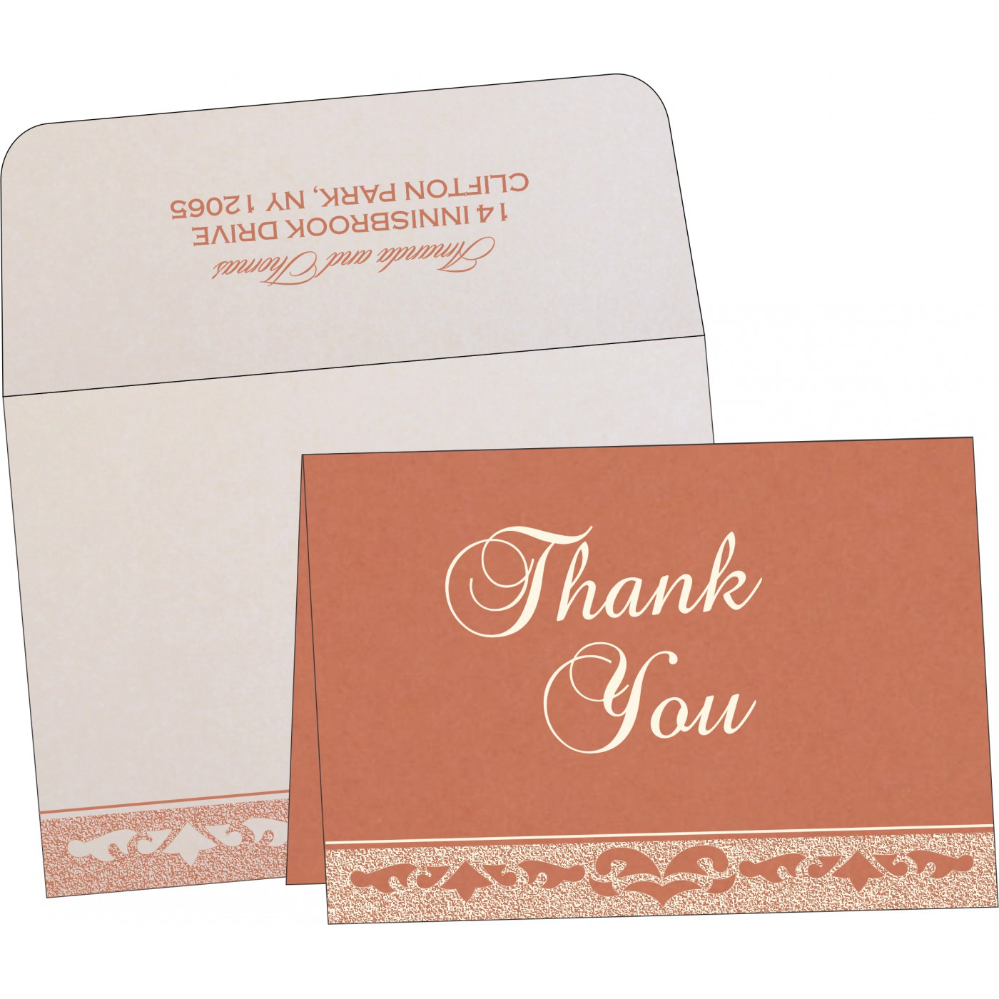 Thank You Cards : TYC-8227L - 123WeddingCards