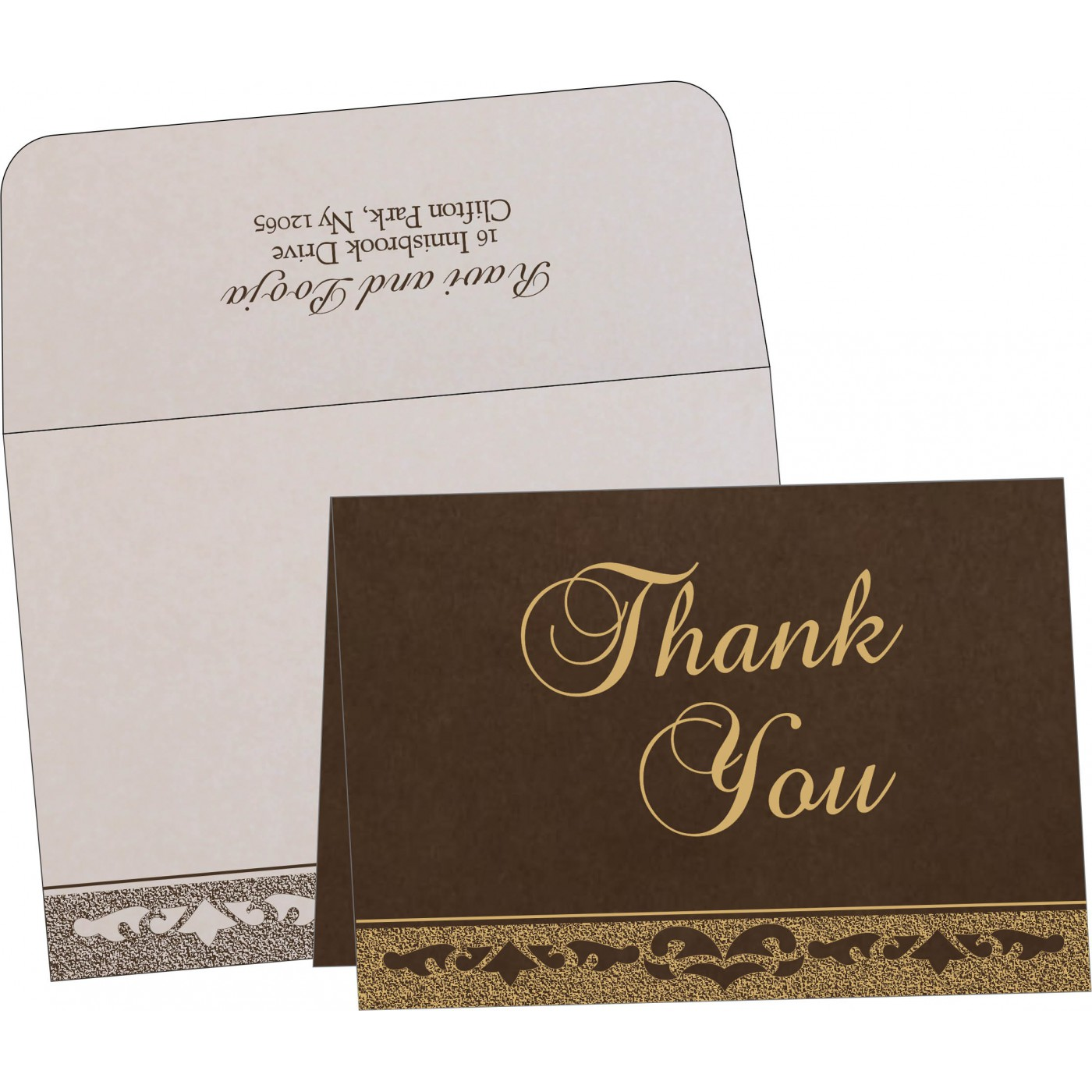 Thank You Cards : TYC-8227P - 123WeddingCards