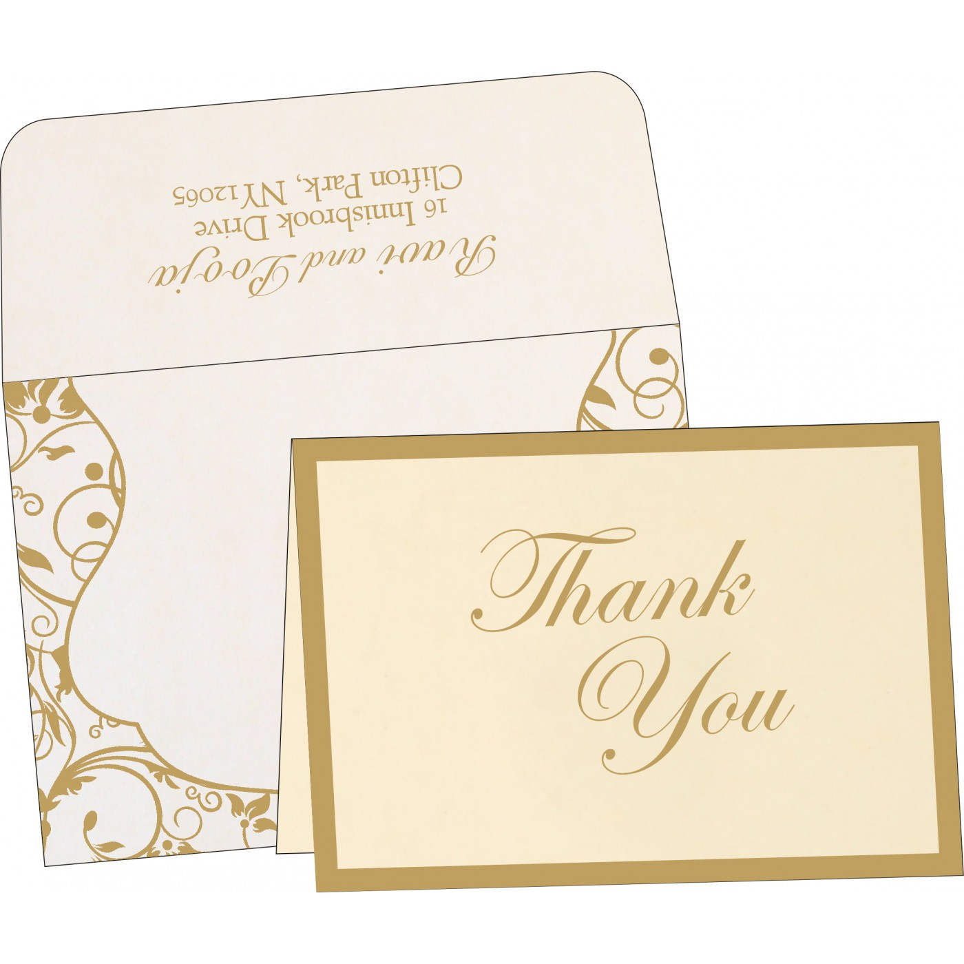 Thank You Cards : TYC-8229E - 123WeddingCards