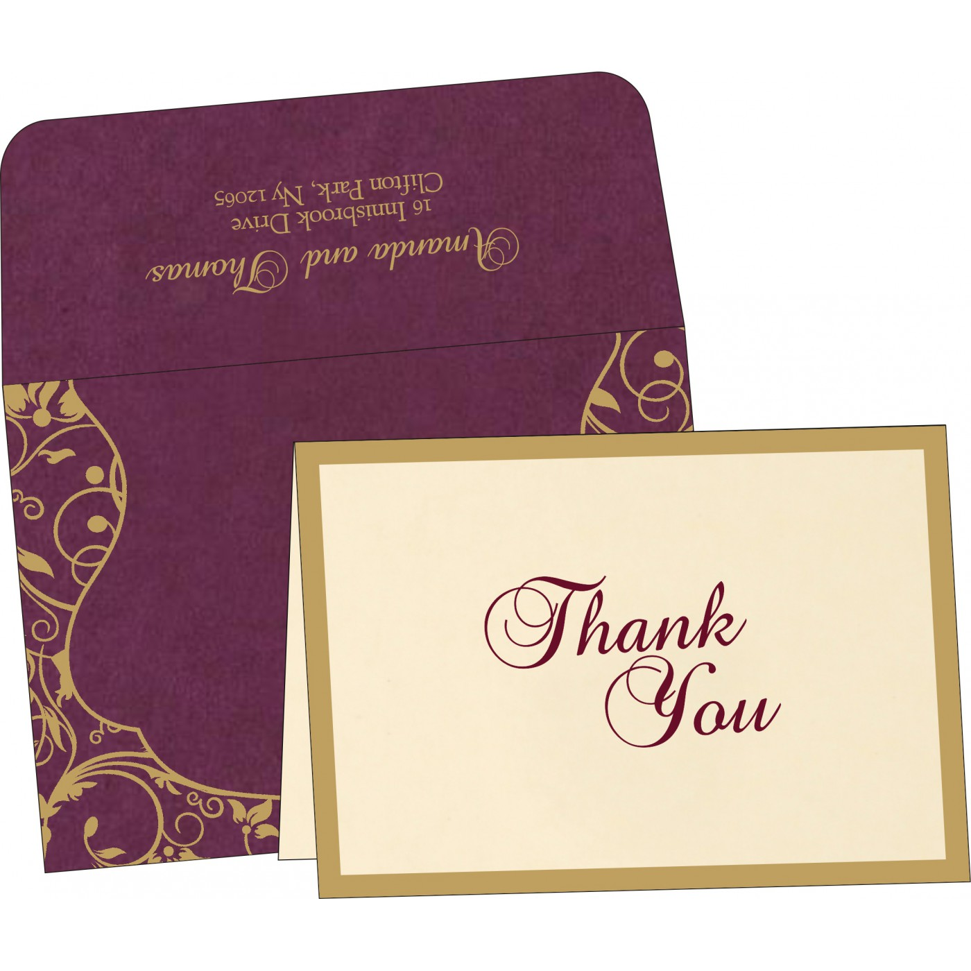Thank You Cards : TYC-8229K - 123WeddingCards