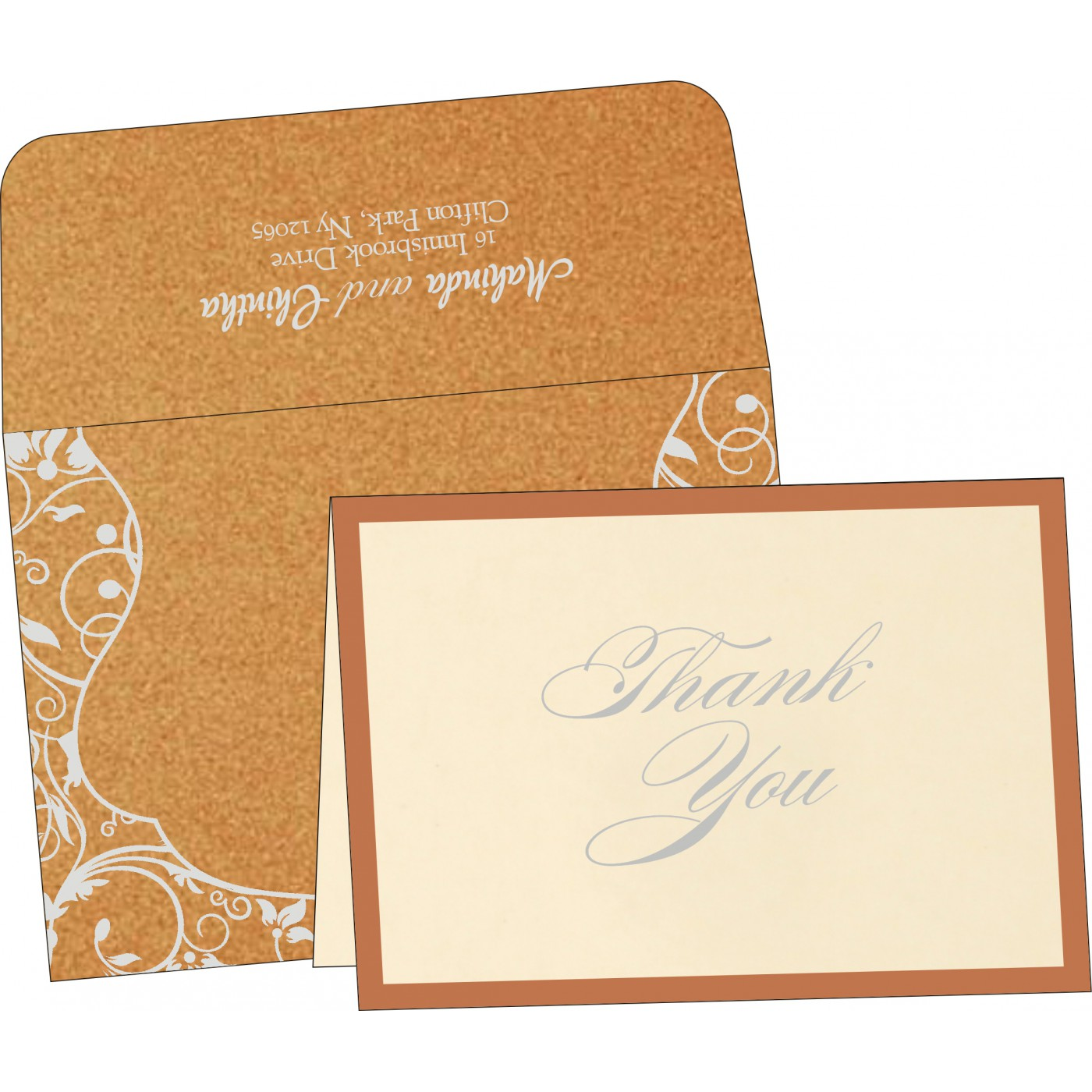 Thank You Cards : TYC-8229O - 123WeddingCards