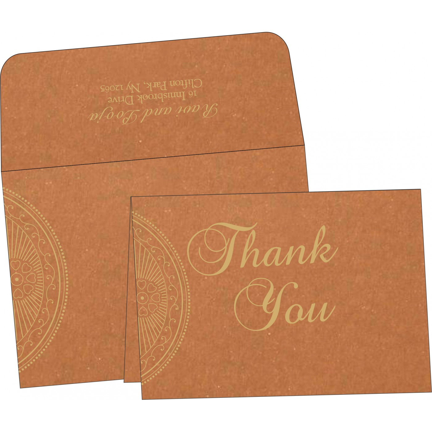 Thank You Cards : TYC-8230Q - 123WeddingCards