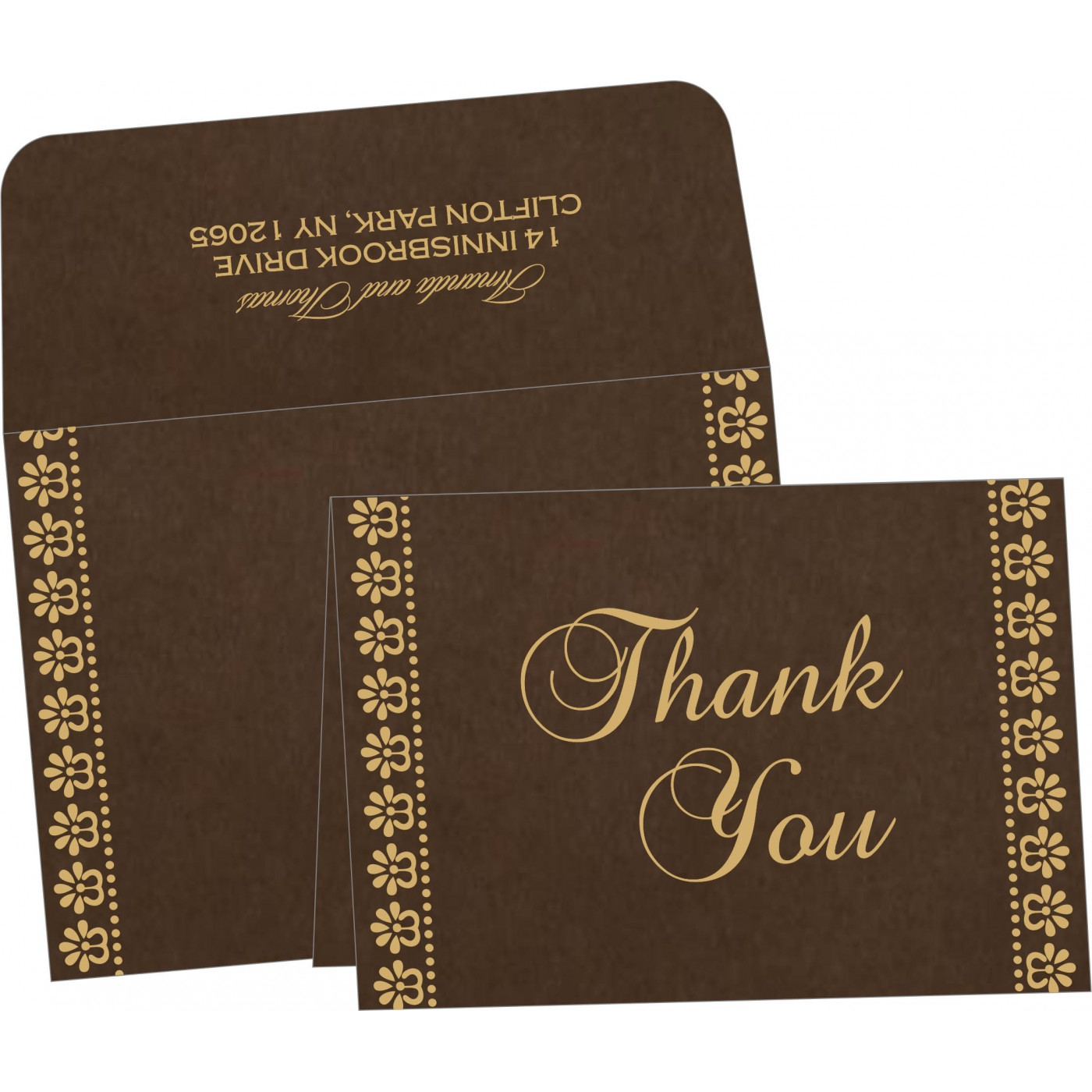 Thank You Cards : TYC-8231D - 123WeddingCards