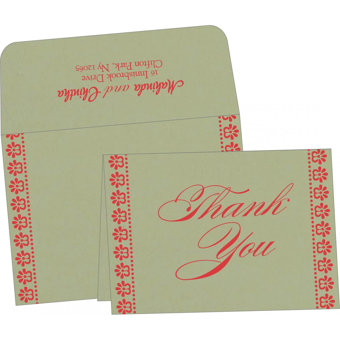 Thank You Cards : TYC-8231G - 123WeddingCards