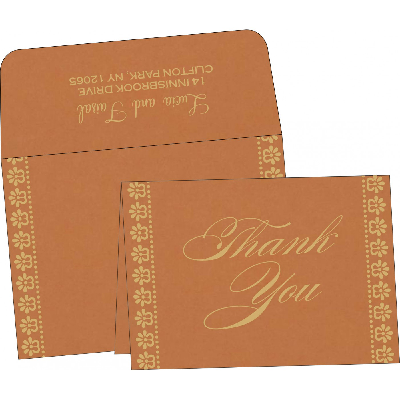 Thank You Cards : TYC-8231H - 123WeddingCards