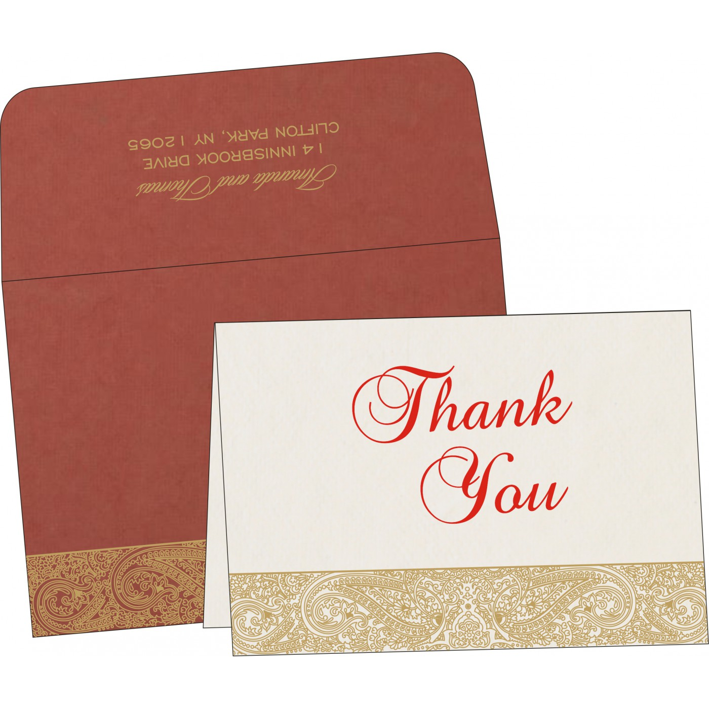 Thank You Cards : TYC-8234L - 123WeddingCards