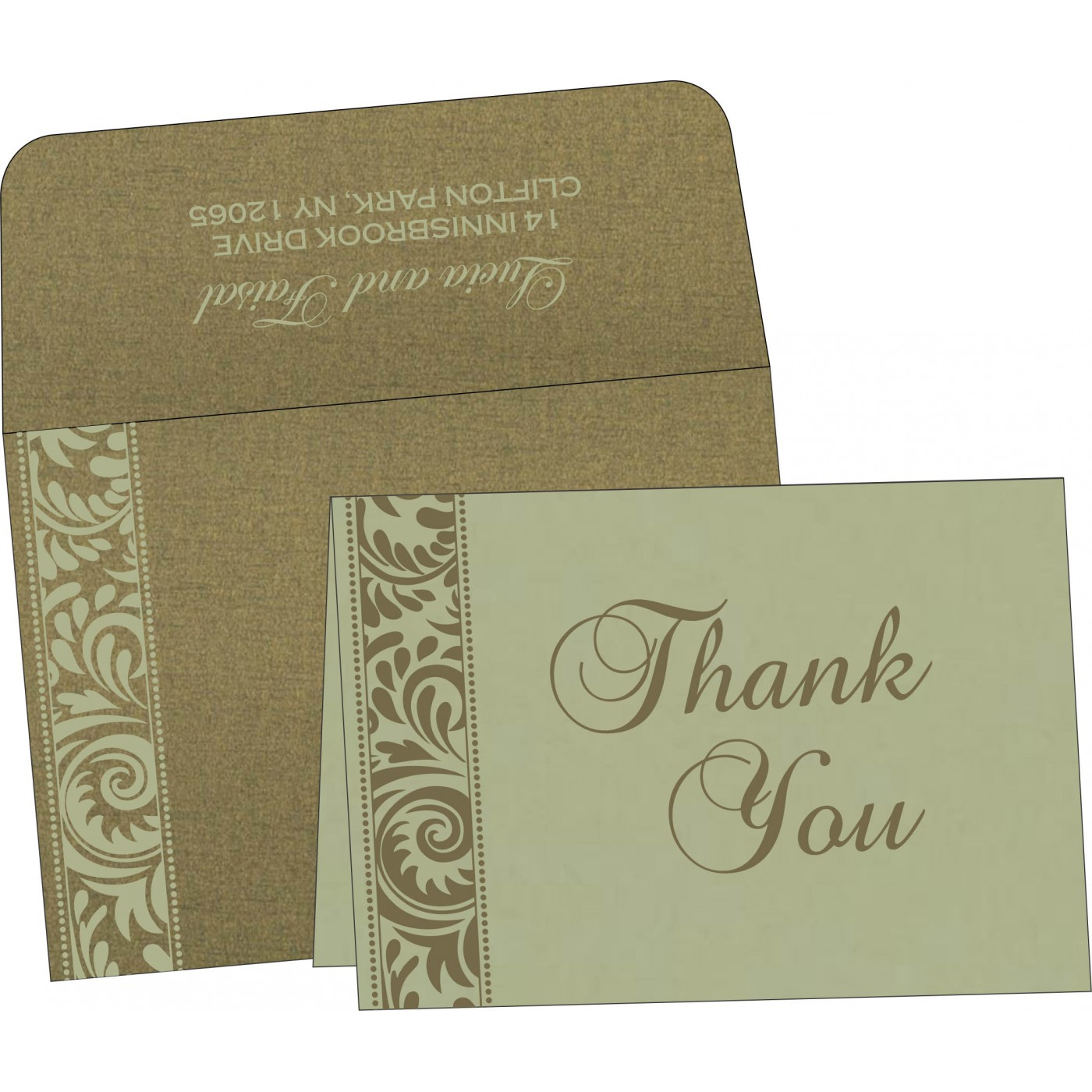 Thank You Cards : TYC-8235A - 123WeddingCards