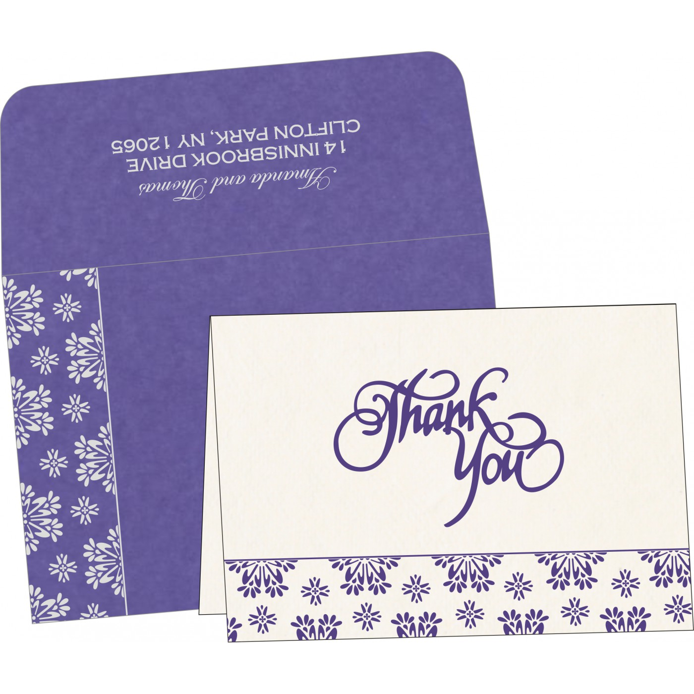 Thank You Cards : TYC-8237A - 123WeddingCards