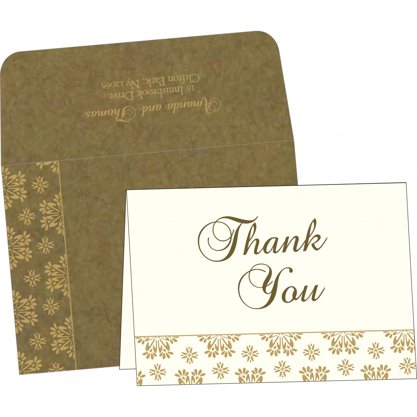 Thank You Cards : TYC-8237E - 123WeddingCards