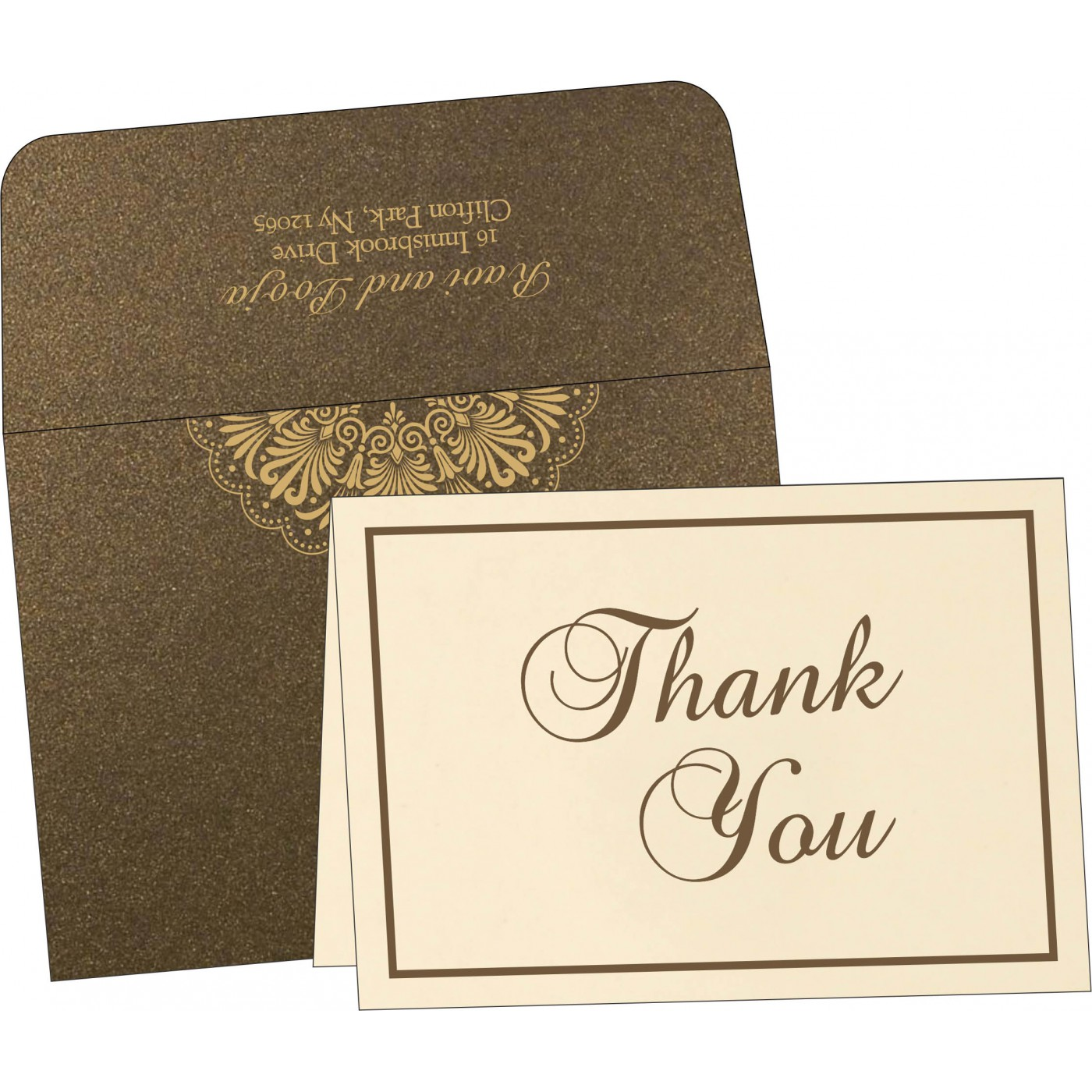 Thank You Cards : TYC-8238G - 123WeddingCards