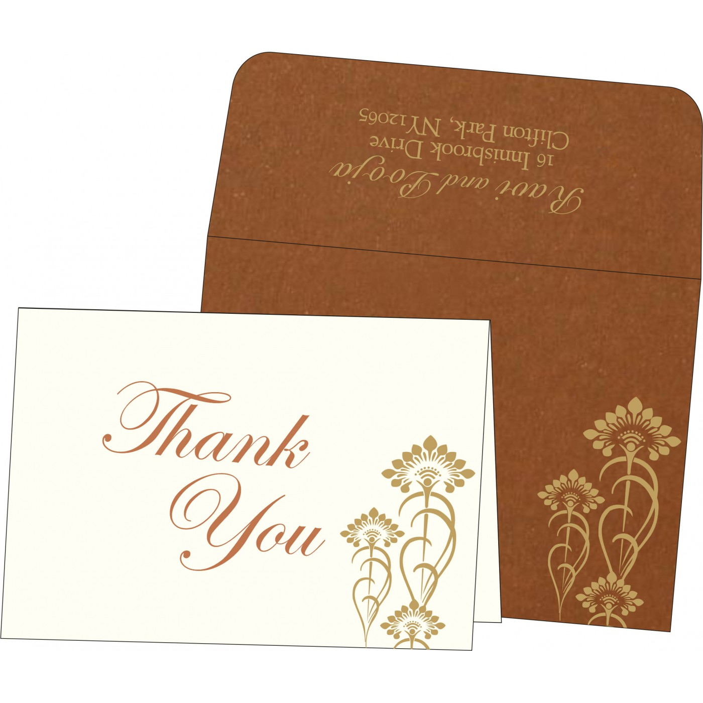 Thank You Cards : TYC-8239H - 123WeddingCards