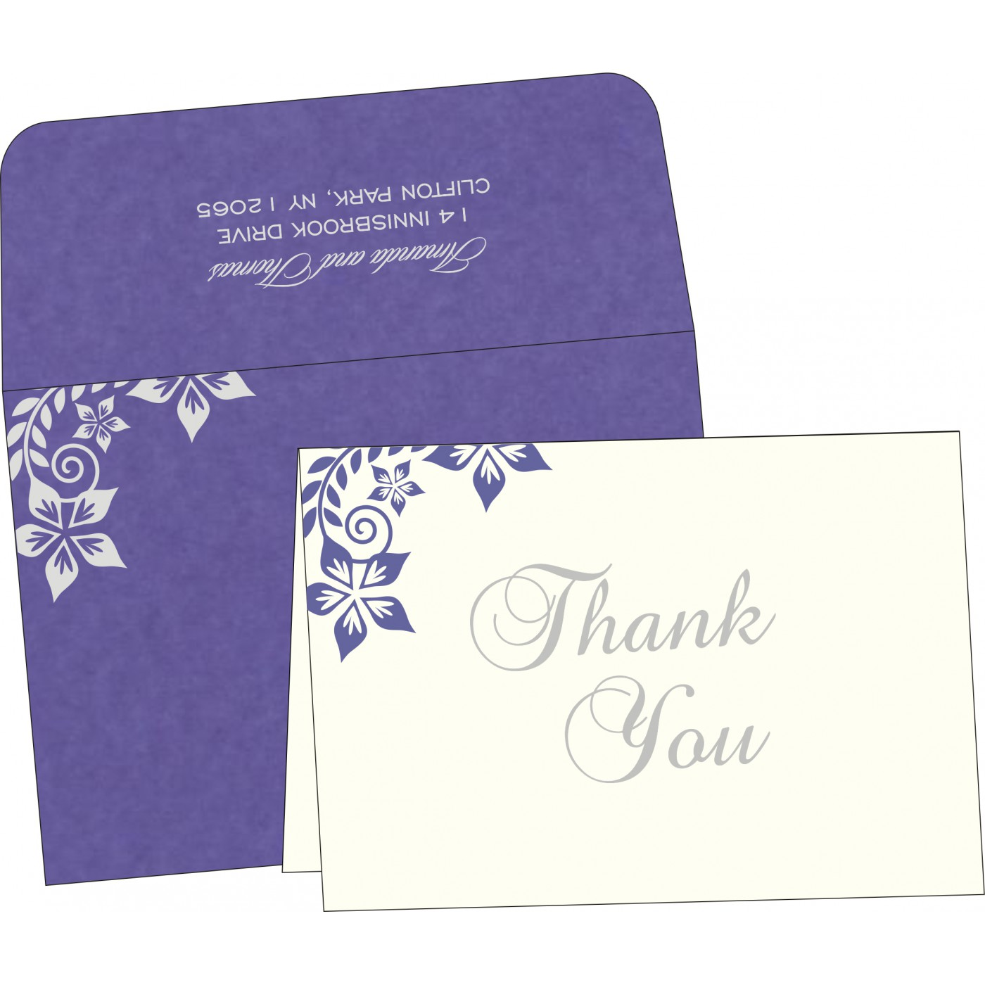 Thank You Cards : TYC-8240B - 123WeddingCards