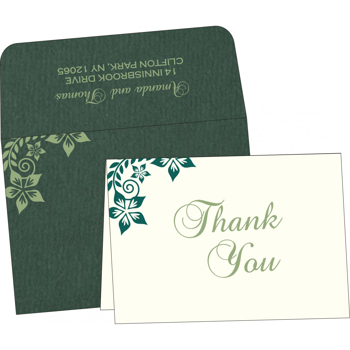 Thank You Cards : TYC-8240N - 123WeddingCards