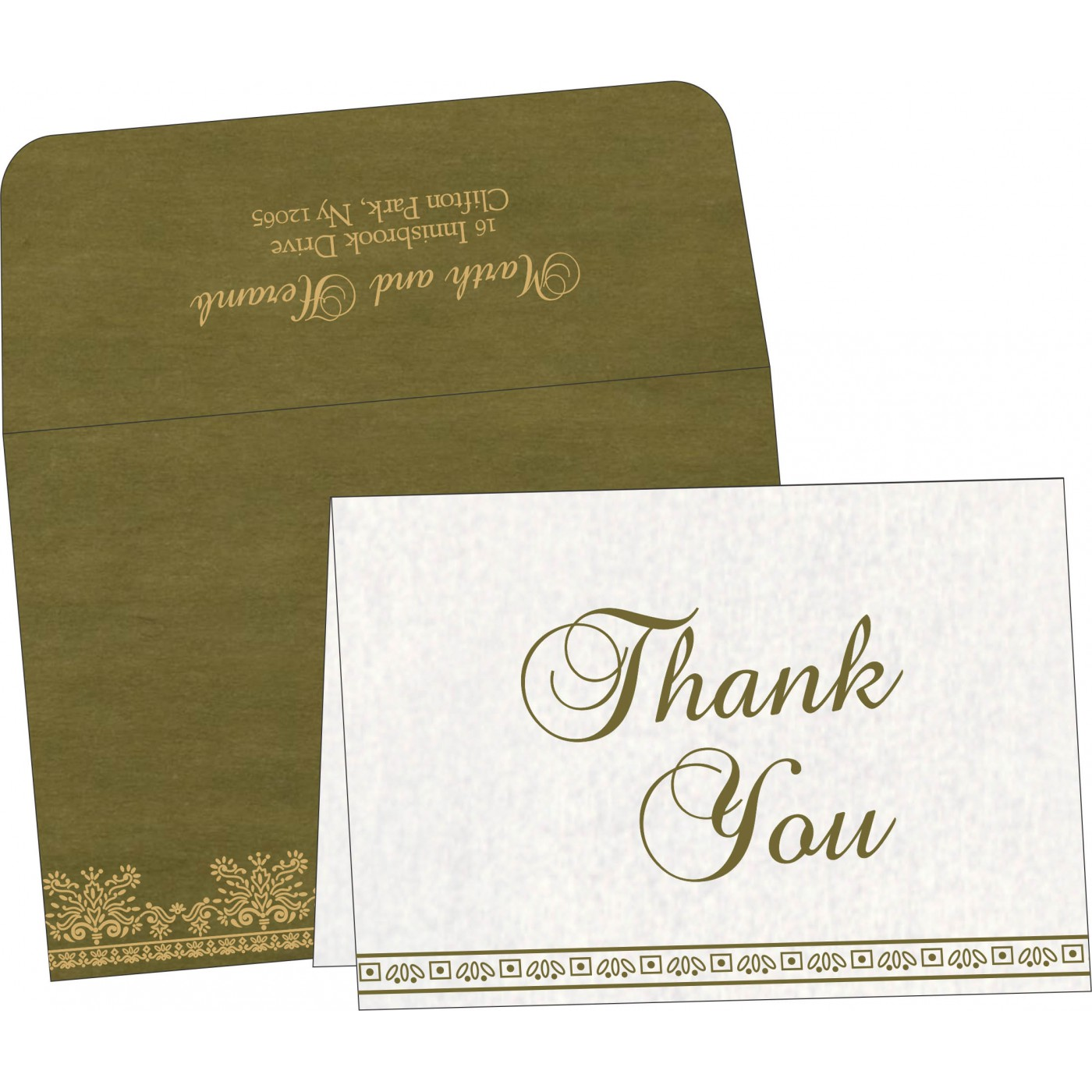 Thank You Cards : TYC-8241L - 123WeddingCards