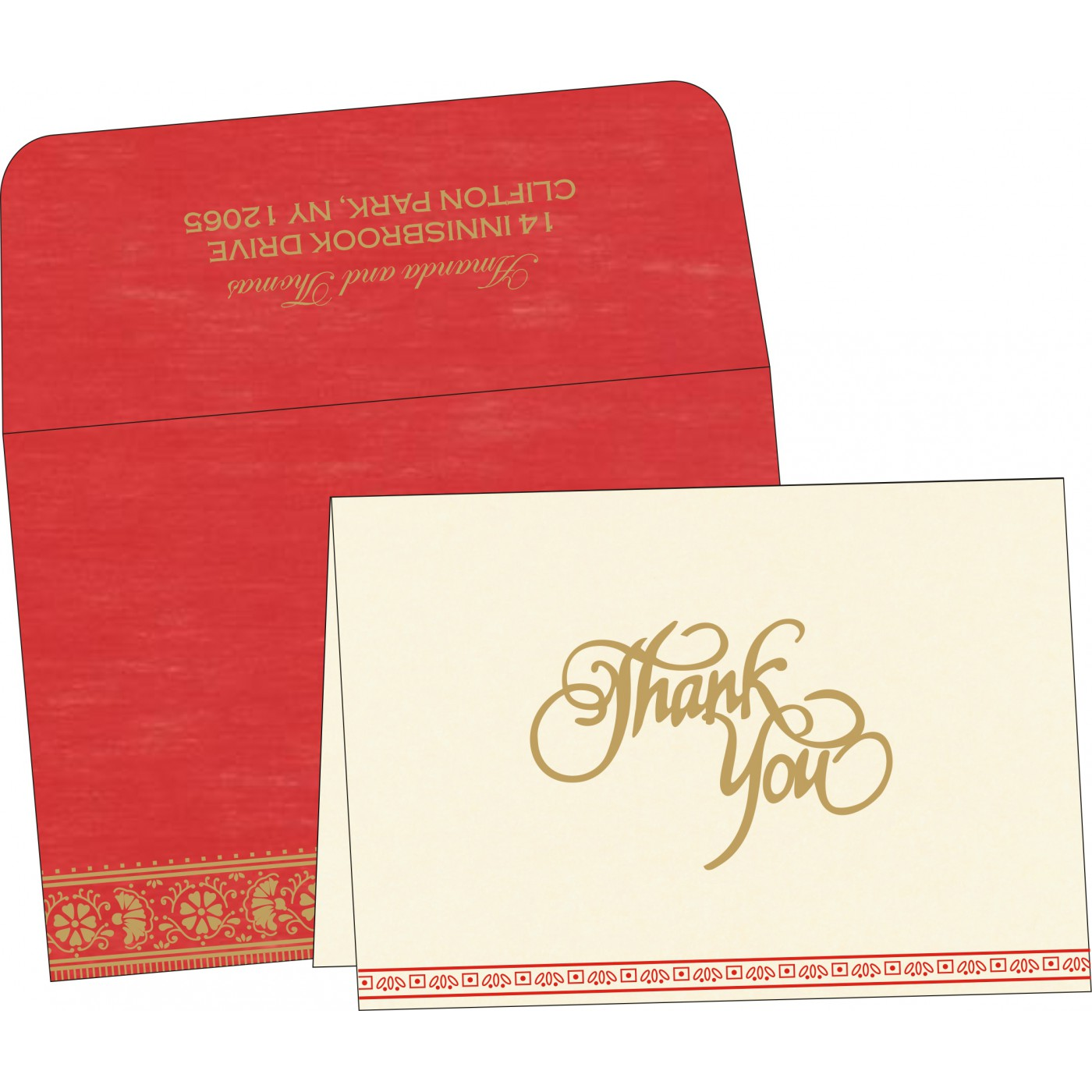 Thank You Cards : TYC-8242A - 123WeddingCards