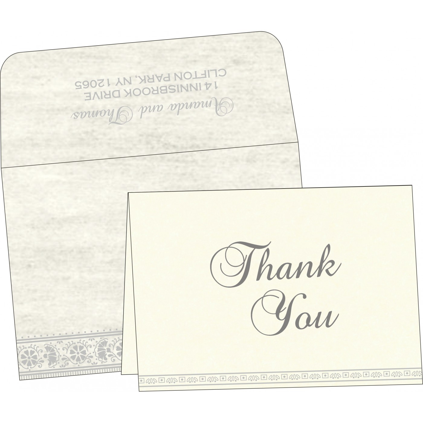 Thank You Cards : TYC-8242P - 123WeddingCards