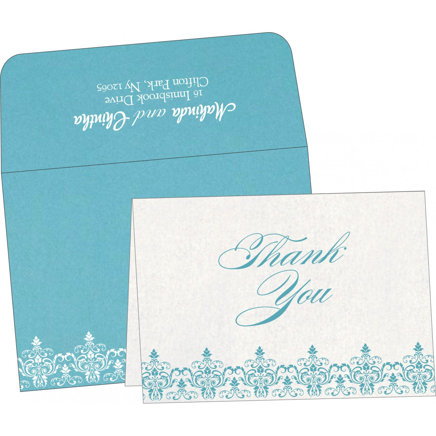 Thank You Cards : TYC-8244F - 123WeddingCards