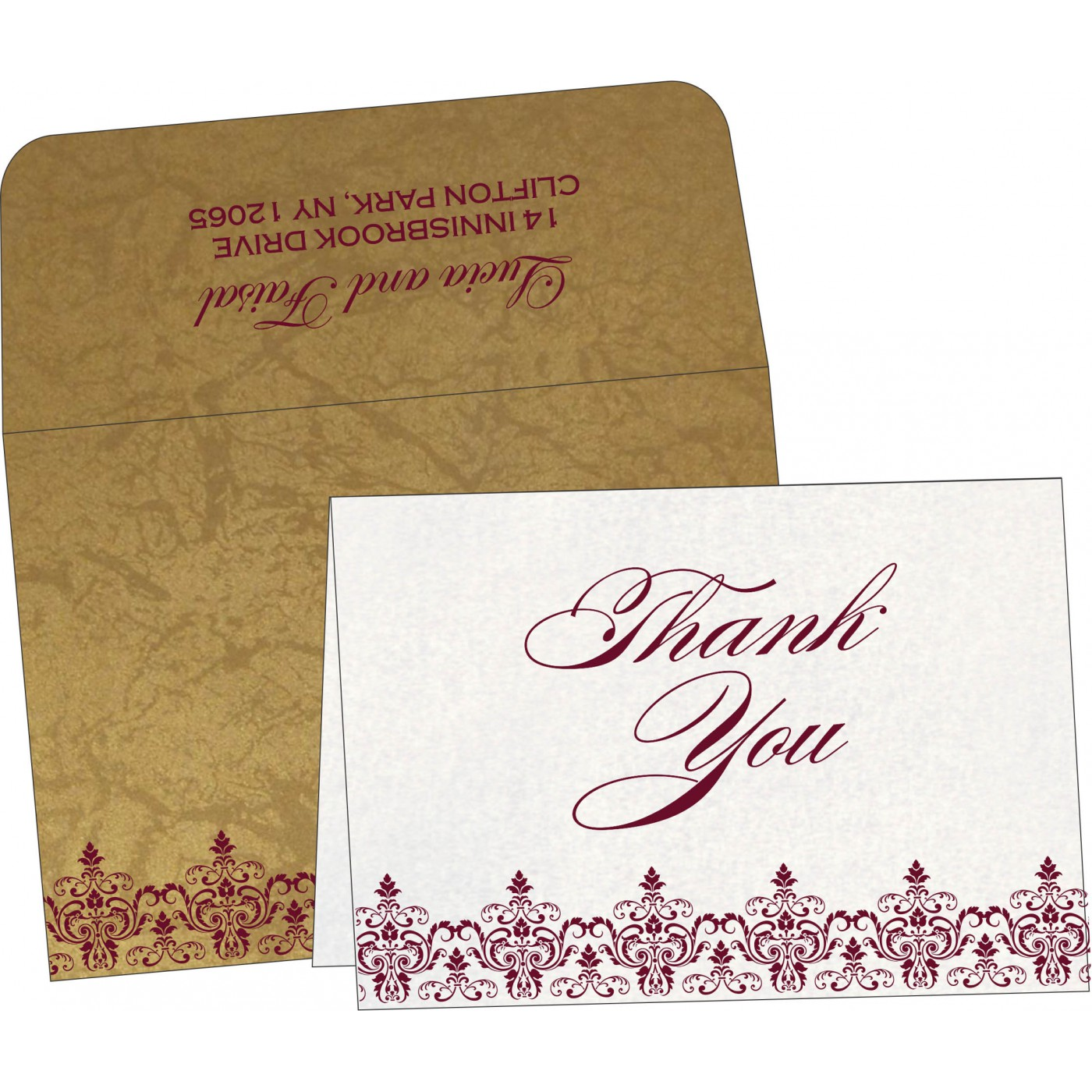 Thank You Cards : TYC-8244G - 123WeddingCards