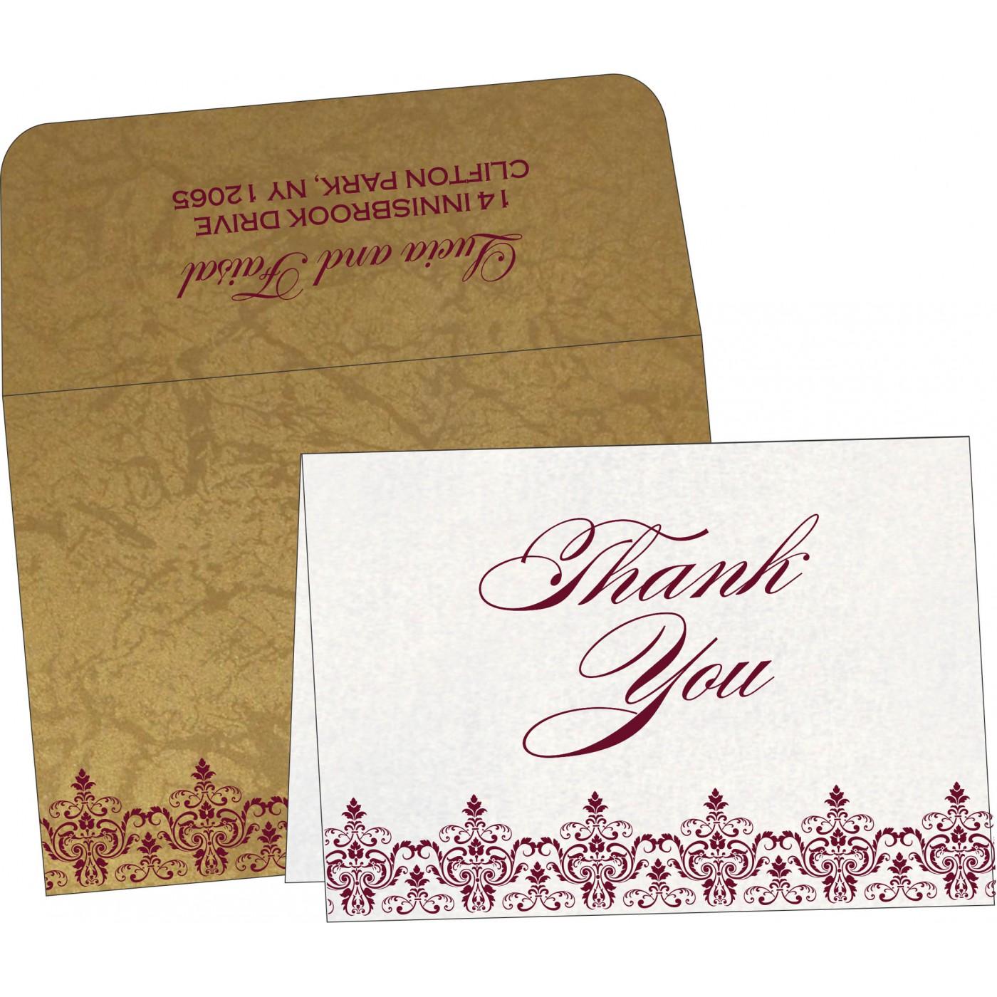 Thank You Cards : TYC-8244G - 123WeddingCards