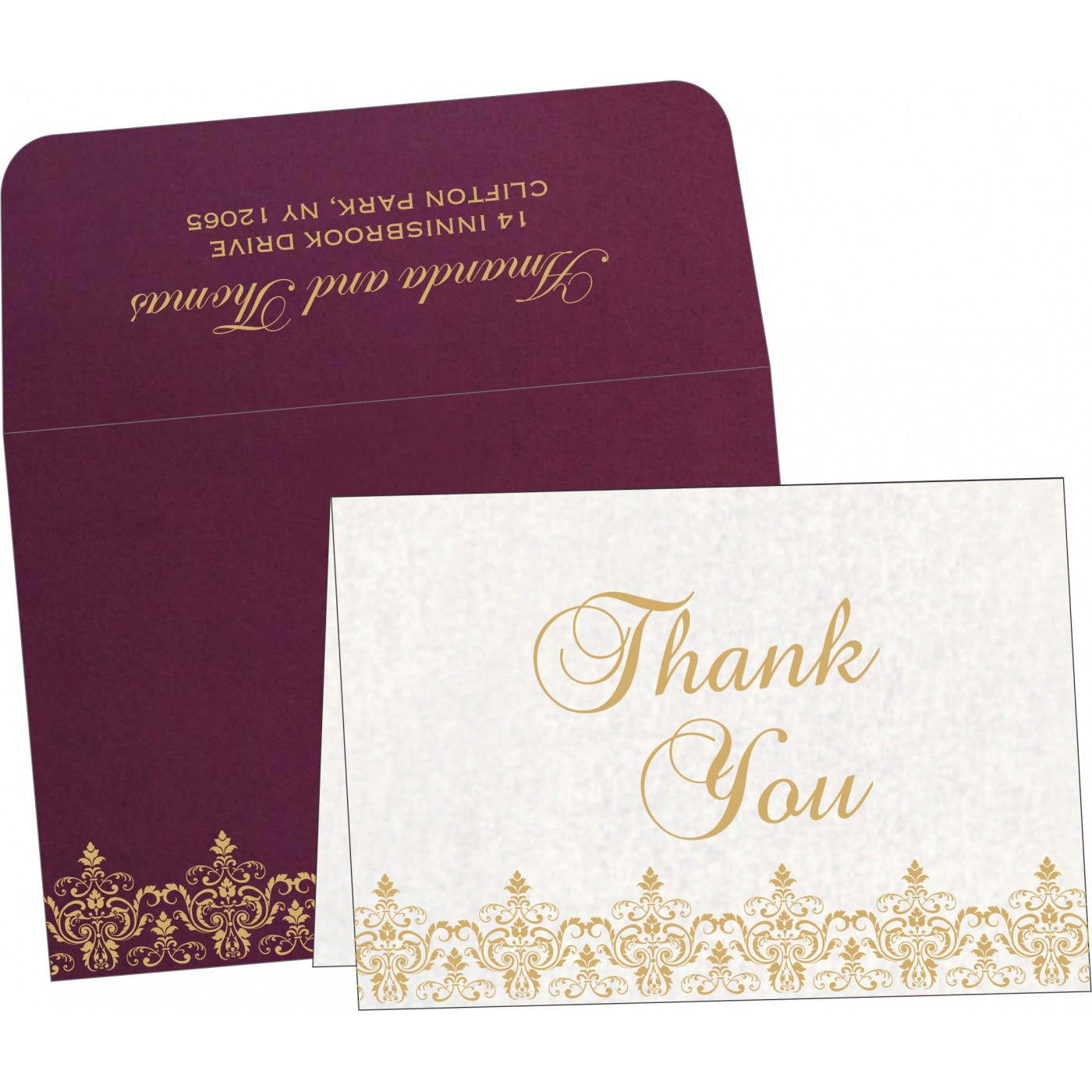 Thank You Cards : TYC-8244H - 123WeddingCards