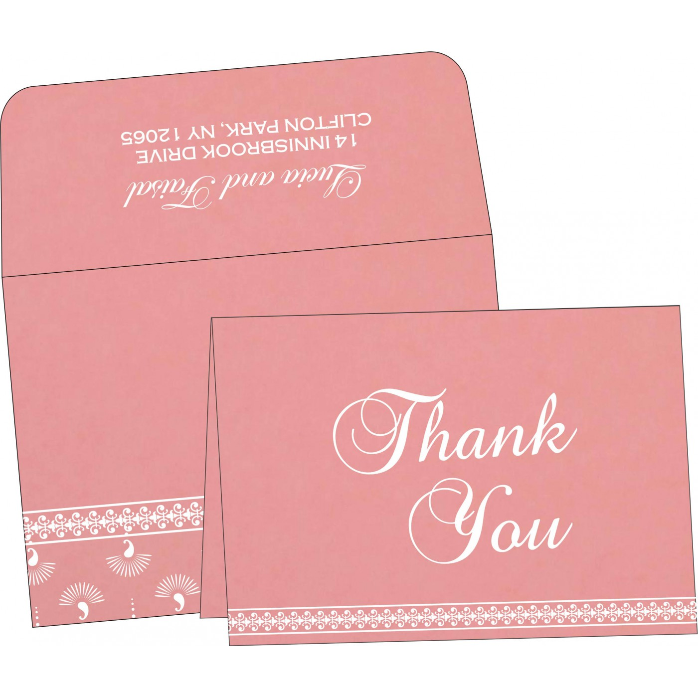 Thank You Cards : TYC-8247A - 123WeddingCards