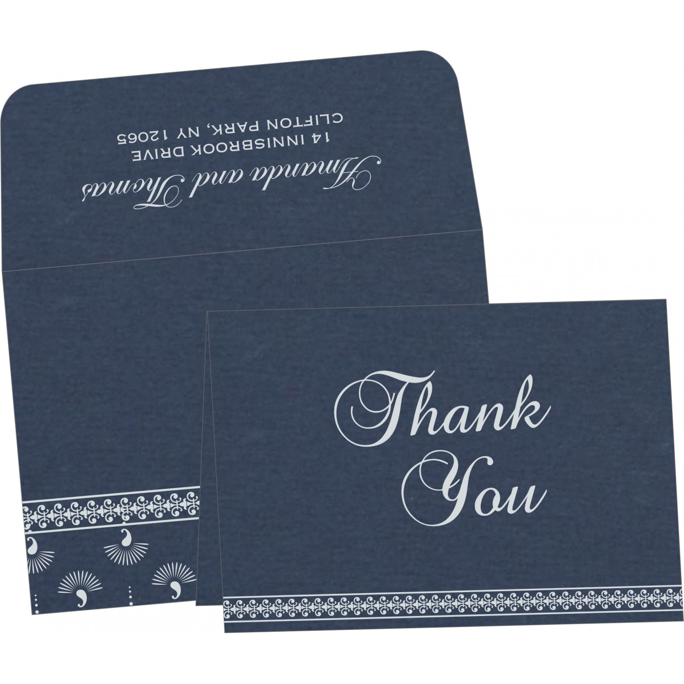 Thank You Cards : TYC-8247G - 123WeddingCards