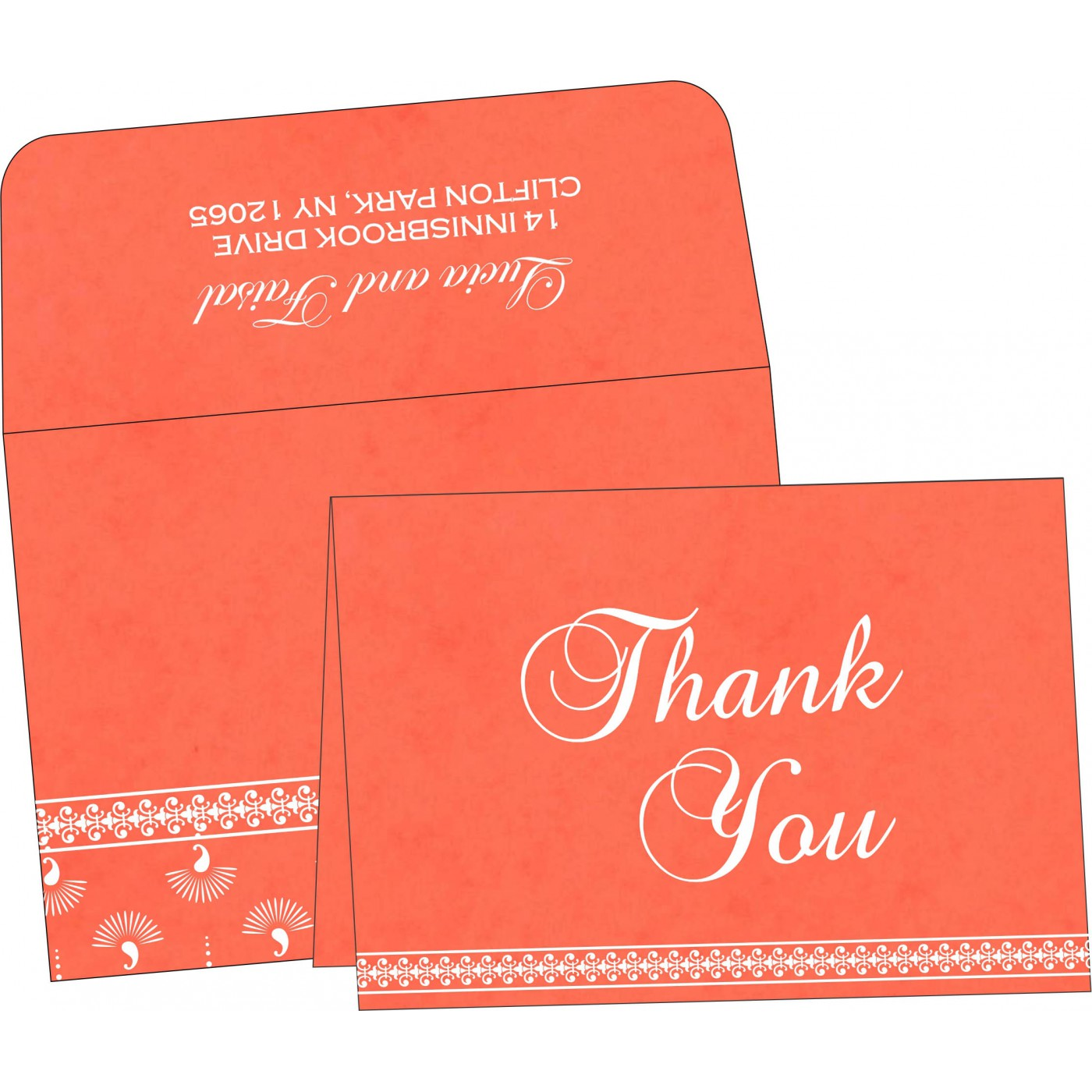 Thank You Cards : TYC-8247I - 123WeddingCards